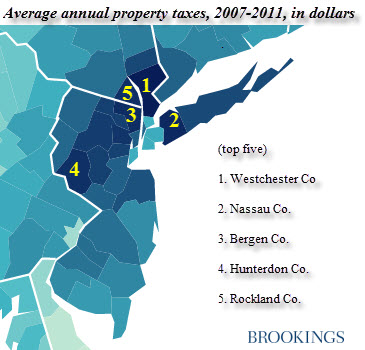 Top And Bottom Average Property Taxes Paid By County In The US - Property tax map us