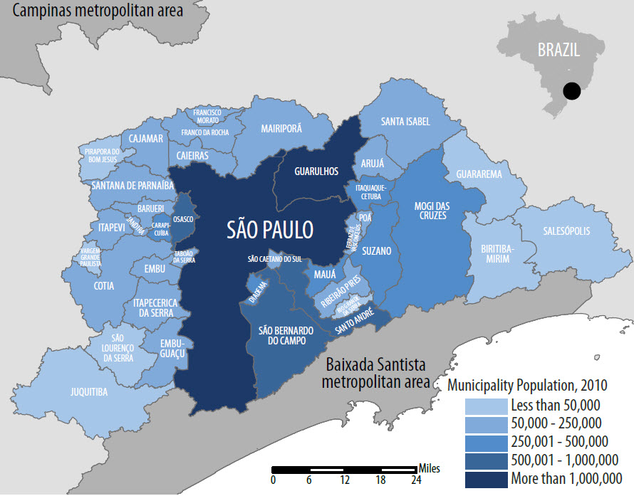 Things To Know About Brazil As You Watch The World Cup - Brazil population map