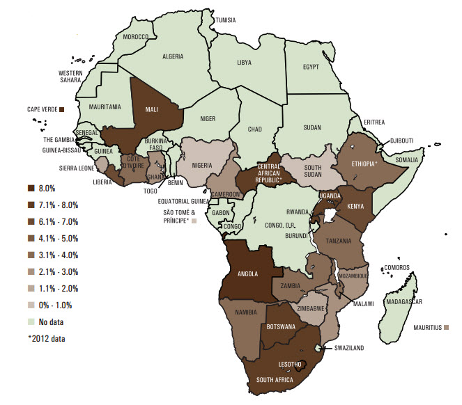 map africa infrastructure