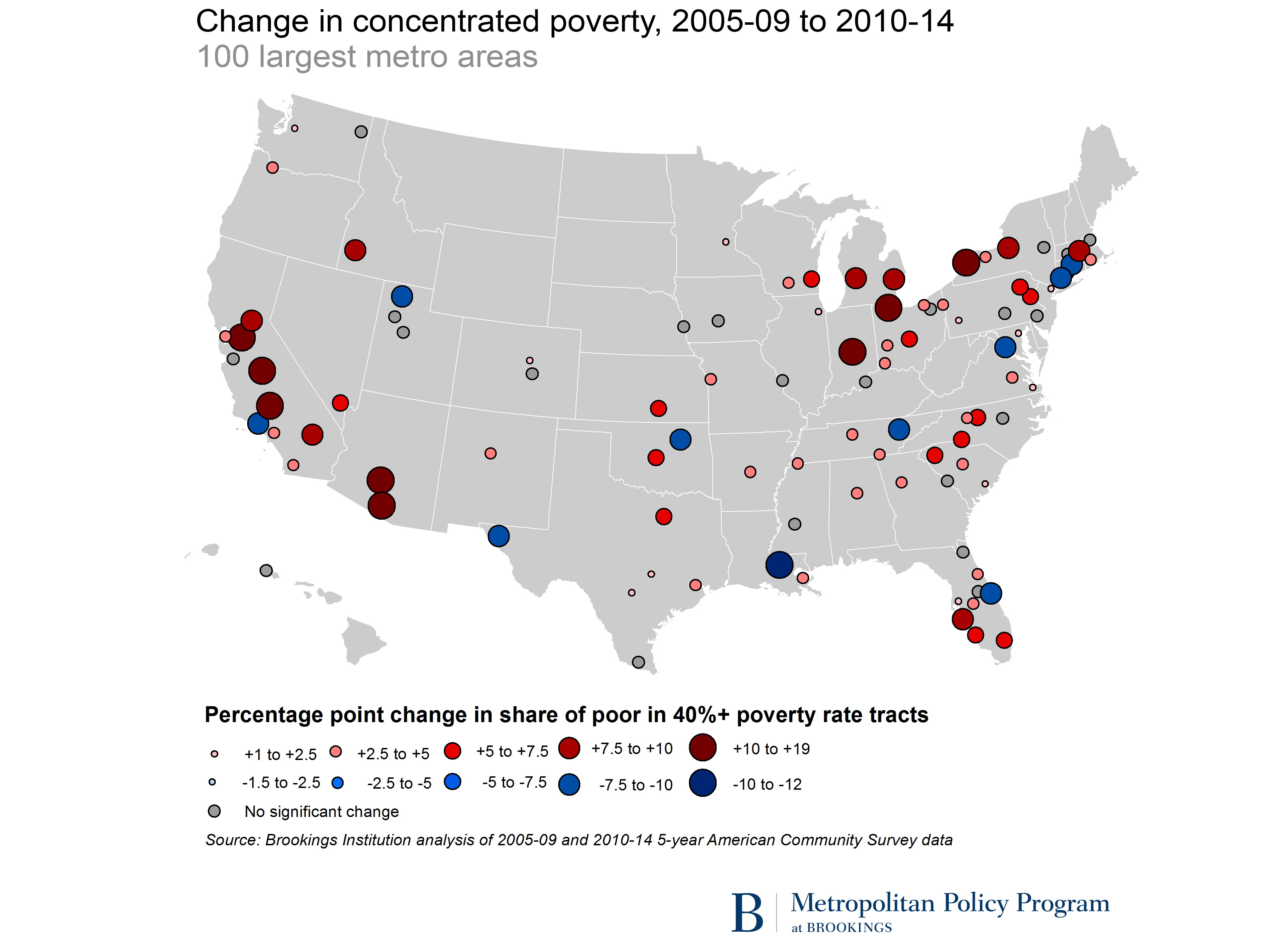US Concentrated Poverty In The Wake Of The Great Recession - Dc us map