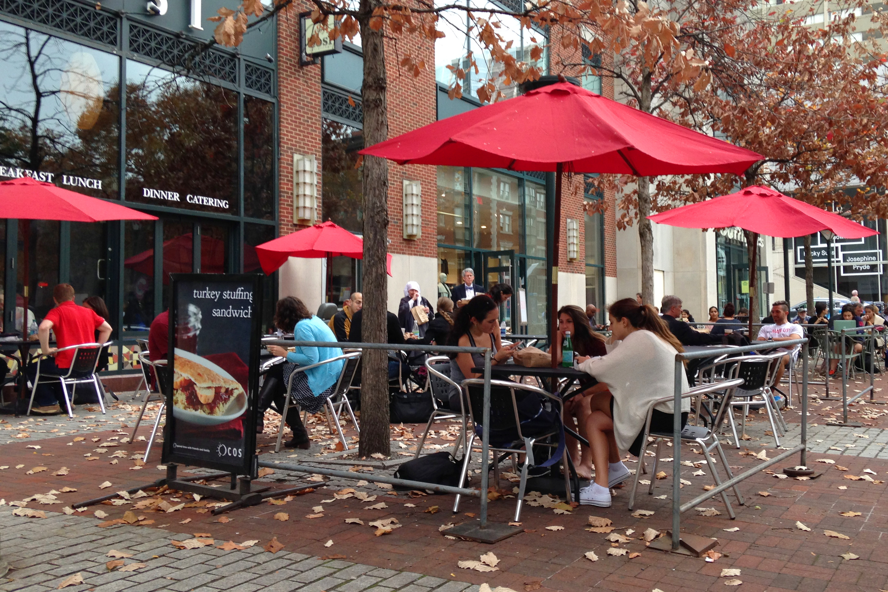 This plaza at the corner of 36th and Walnut Streets in Philadelphia's innovation district provides a prime example of a quality place.