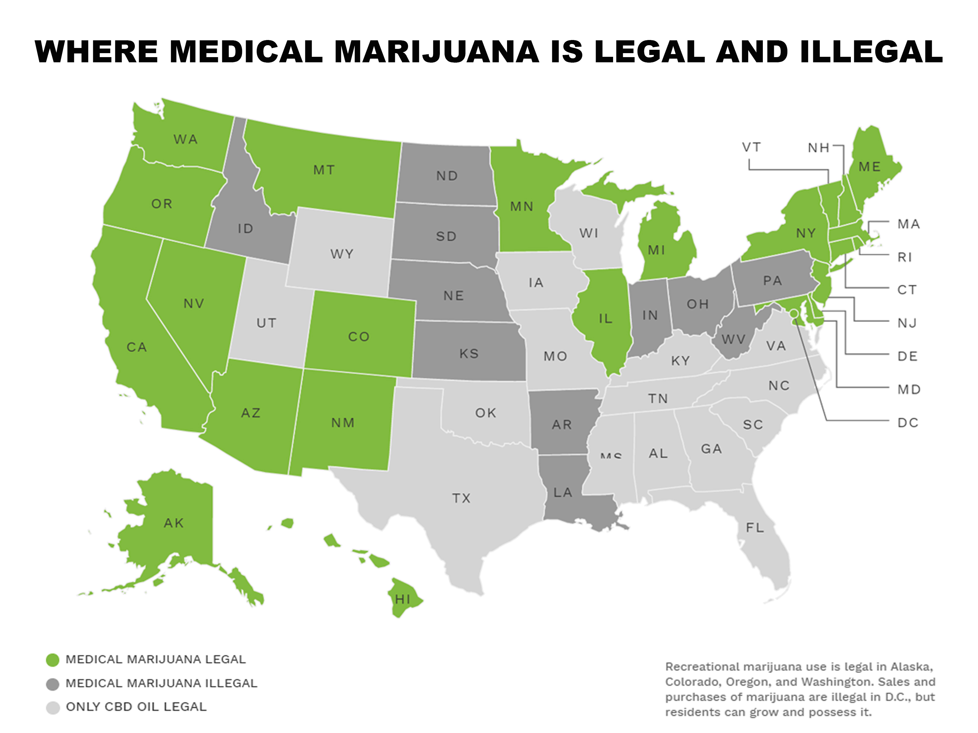 Map Medical Marijuana Laws State By State Us Marijuana Map