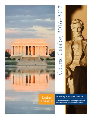 Brookings Executive Education Course Catalog cover
