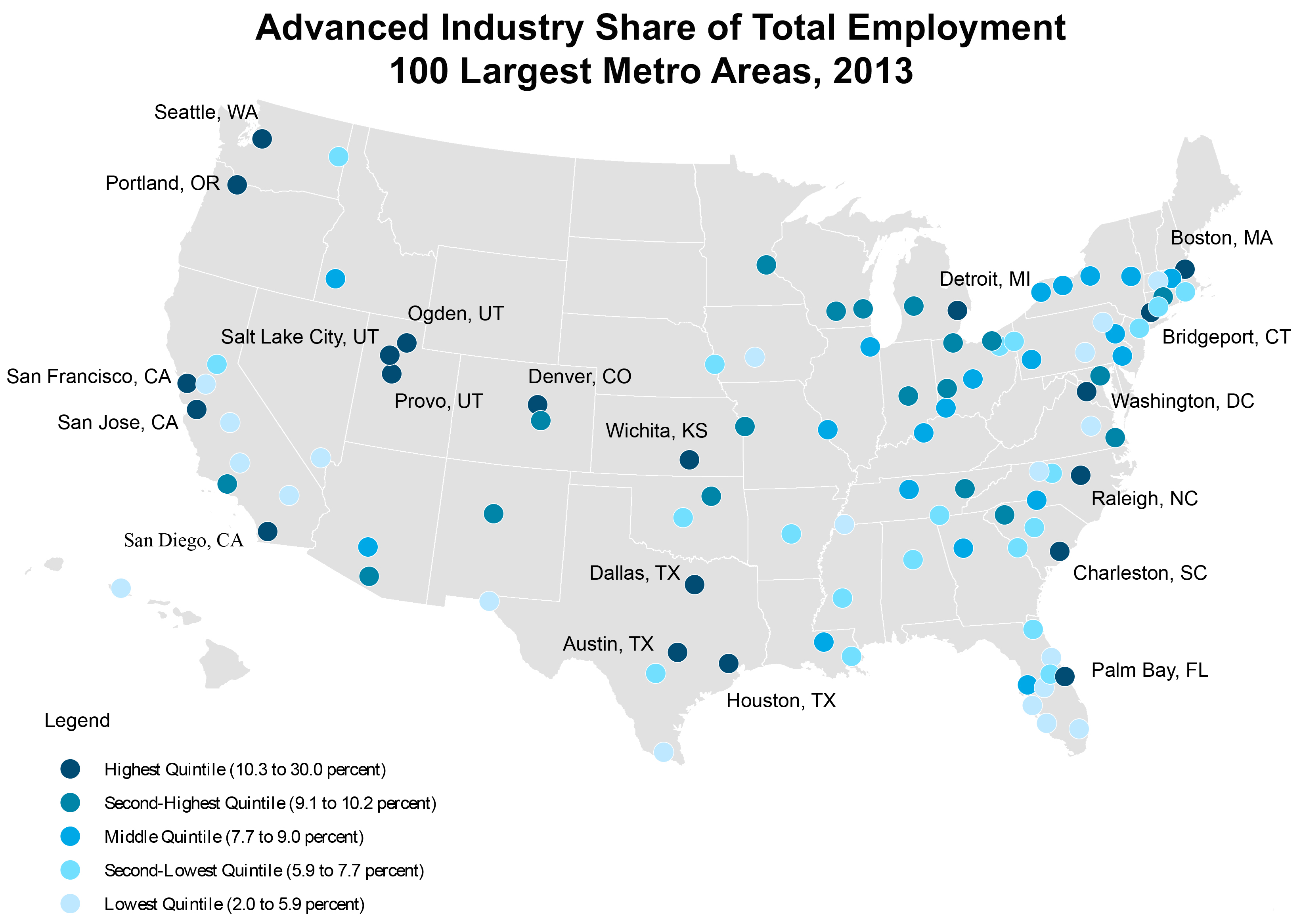 Meet The Countrys Top Advanced Industry Hotspots - Austin metro area map