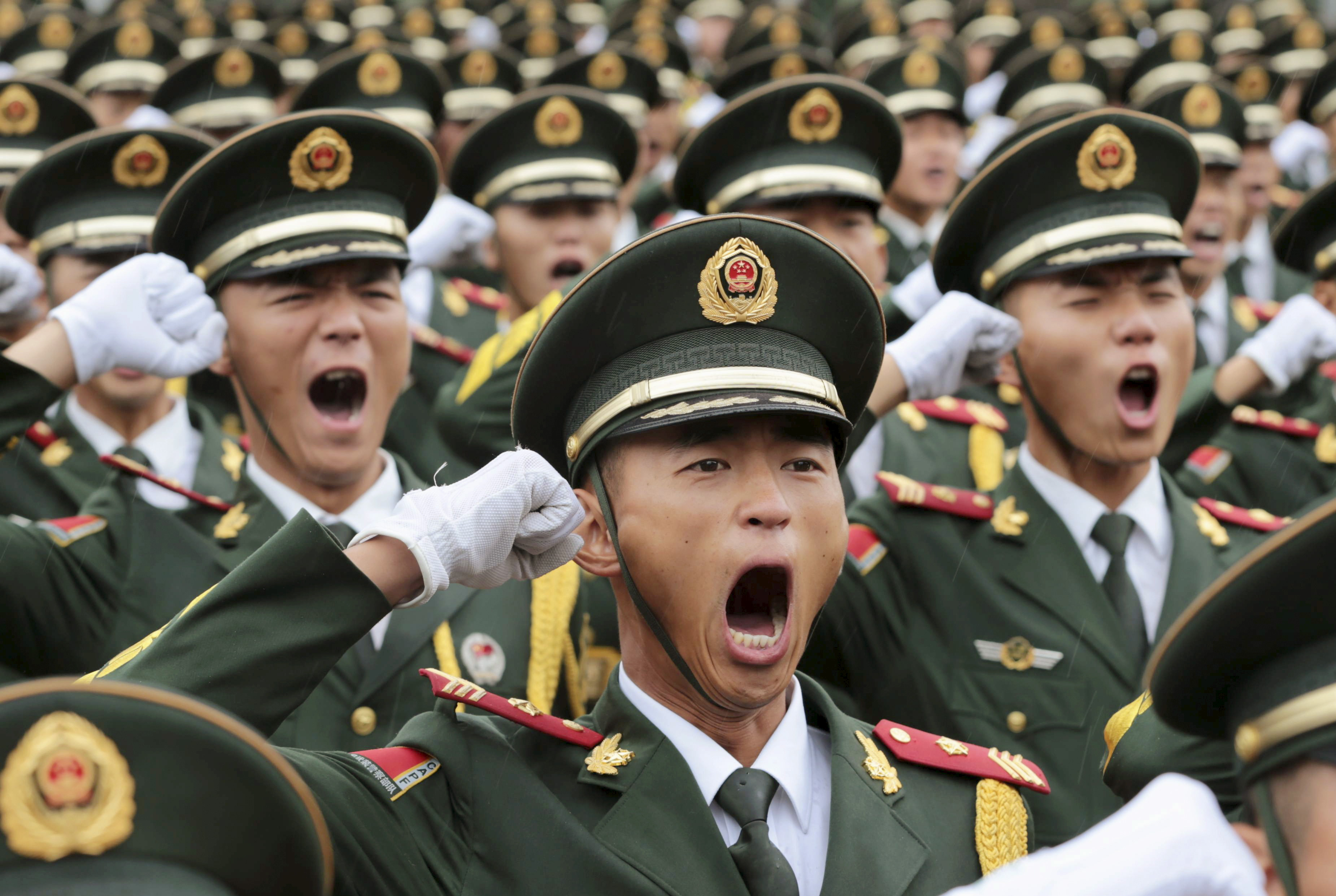 pomp and circumstance in beijing the chinese military flexes its