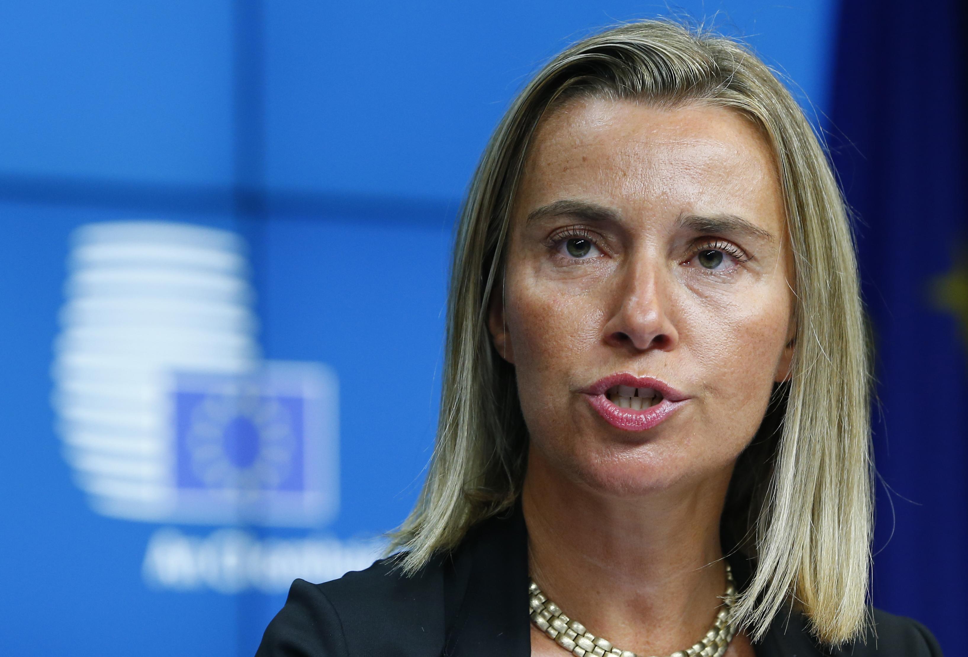 Federica Mogherini Blind
