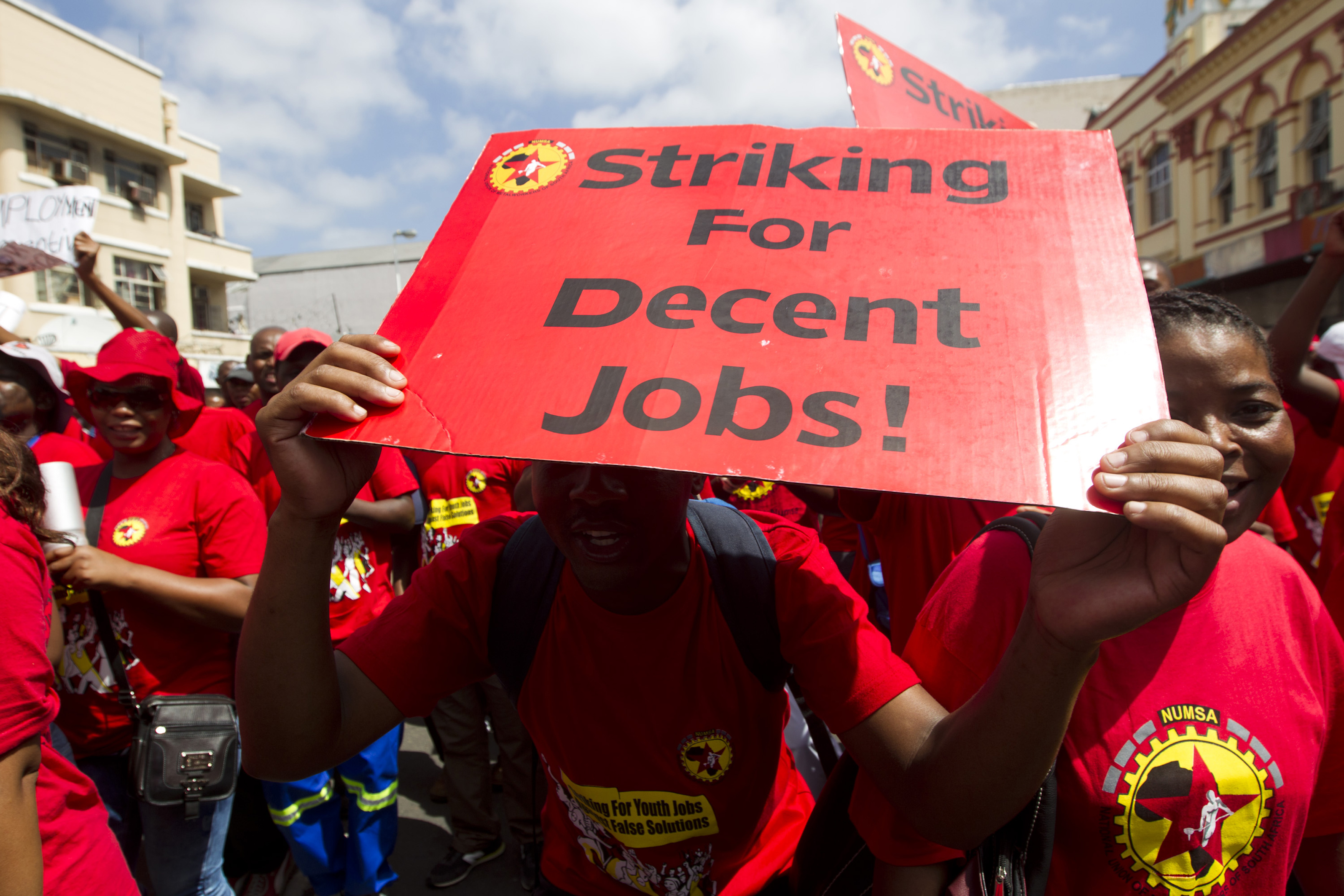 Pictures of strikes in south africa
