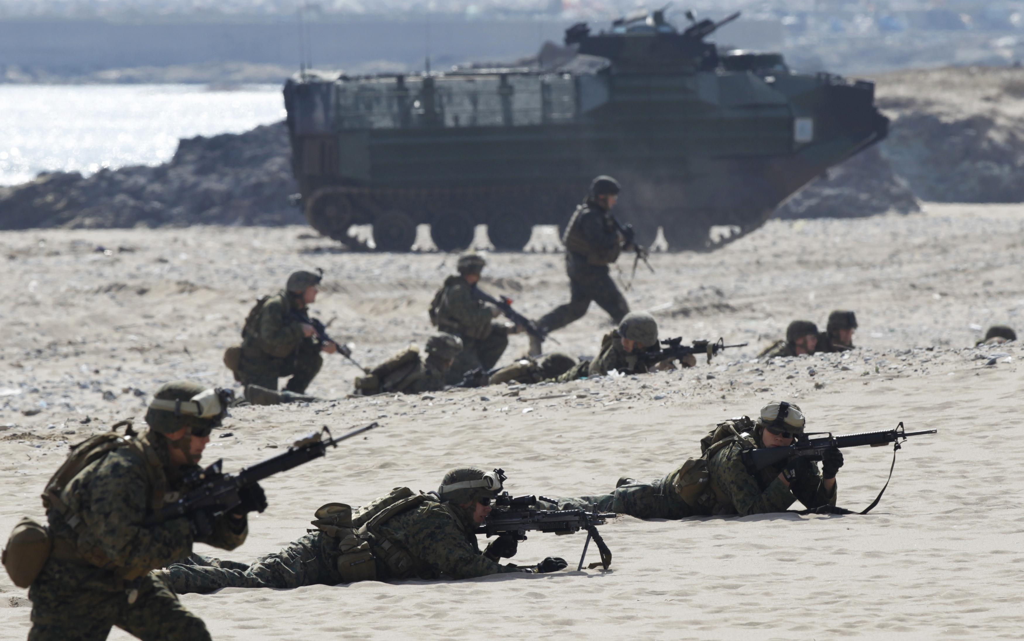 Анекдот: На учениях НАТО с высадкой морского десанта на…
