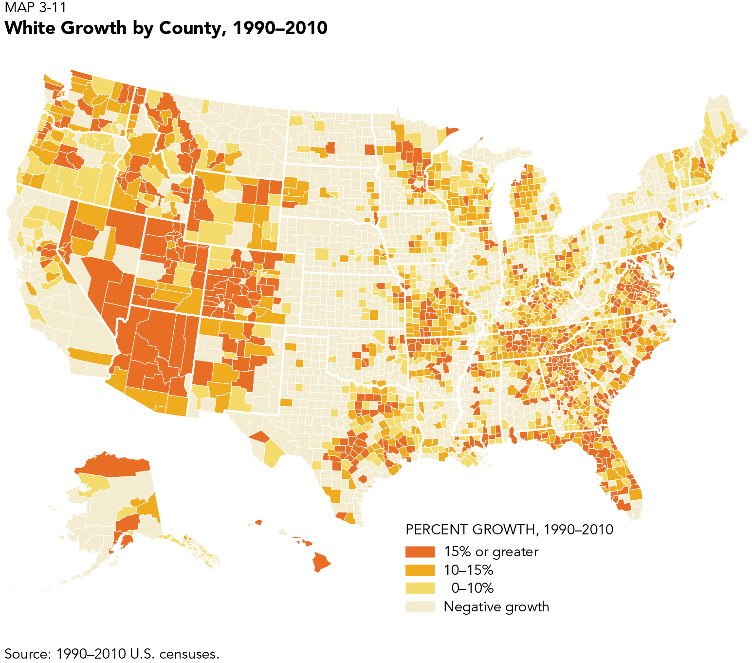 white growth by county