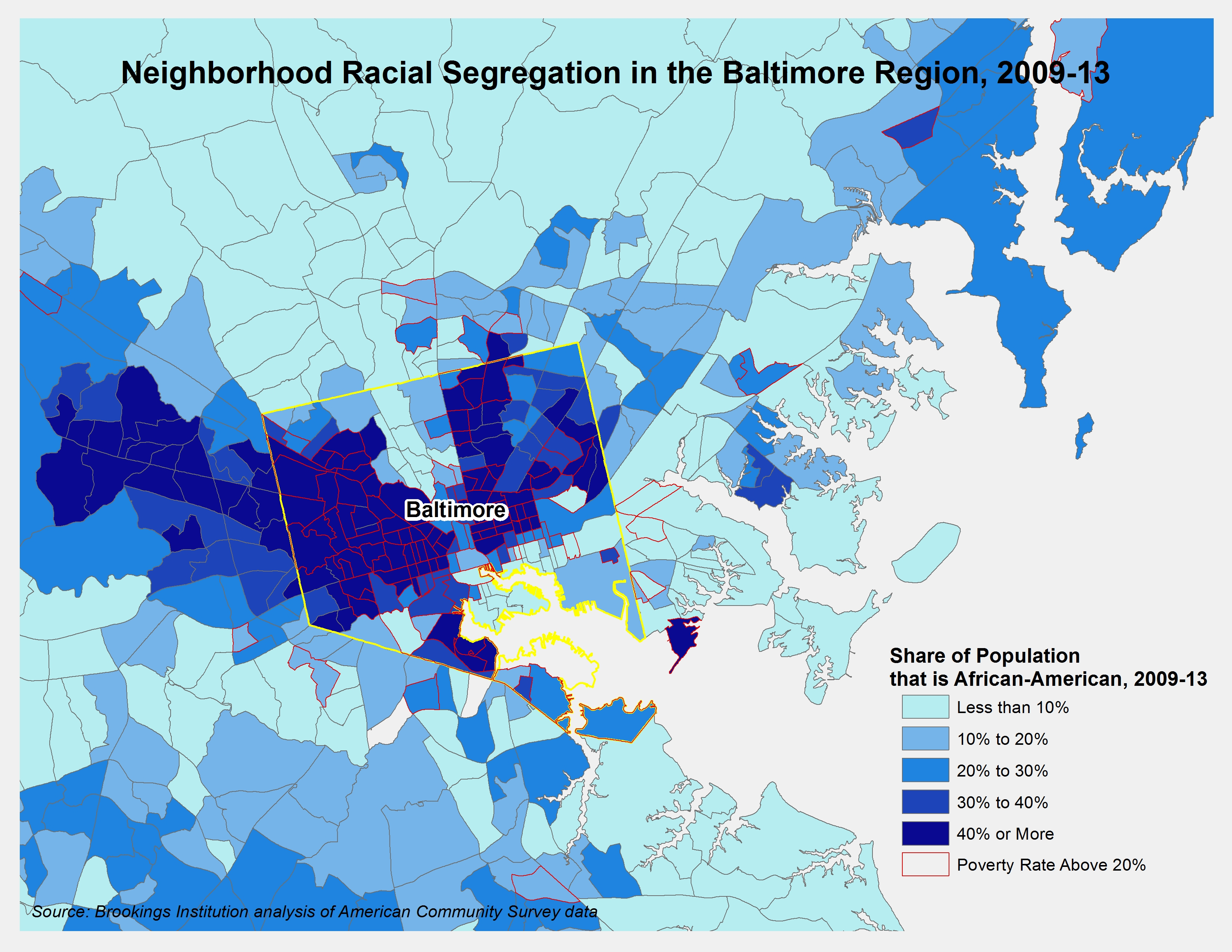 Beyond Baltimore Thoughts On Place Race And Opportunity - Washington dc map by race