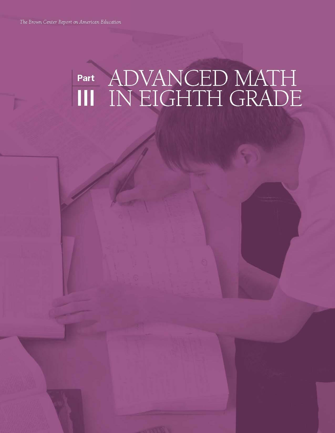 Advanced Math in Eighth Grade