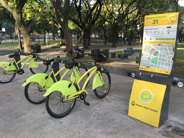 Photo Credit: Alaina Harkness - The Parque Patricios Ecobici bike share station, near the Subte metro station.