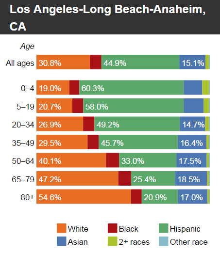 Americas Youthful Minority Population - Population by race us interactive map