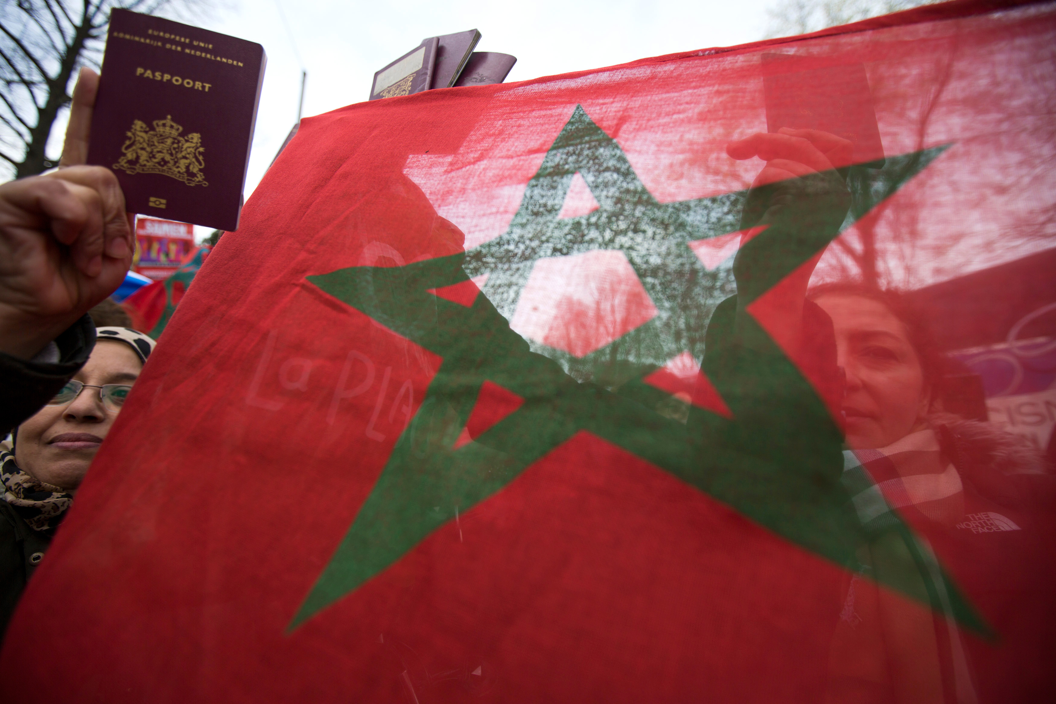 Photo of Moroccan flag.