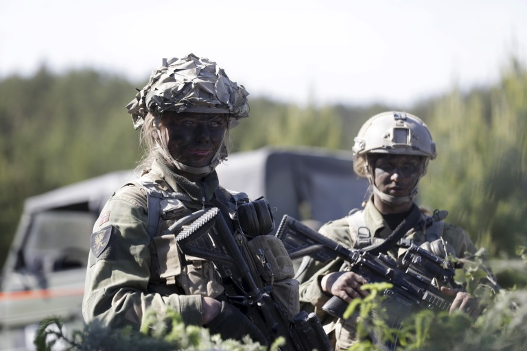 Norway's army soldiers attend the multinational NATO exercise Saber Strike in Adazi, Latvia, June 11, 2015. The annual training this year involves more than 6,000 troops from 13 NATO countries and covers the territories of Latvia, Estonia, Lithuania and Poland. Soldiers from Canada, Denmark, Estonia, Finland, Germany, Latvia, Lithuania, Norway, Poland, Portugal, Slovenia, the United Kingdom and the United States have been taking part in the 2015 edition of the exercise, which has been held annually since 2010. REUTERS/Ints Kalnins