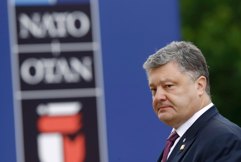 Ukraine's President Petro Poroshenko arrives for the NATO summit at the PGE National Stadium in Warsaw, Poland July 9, 2016. REUTERS/Kacper Pempel