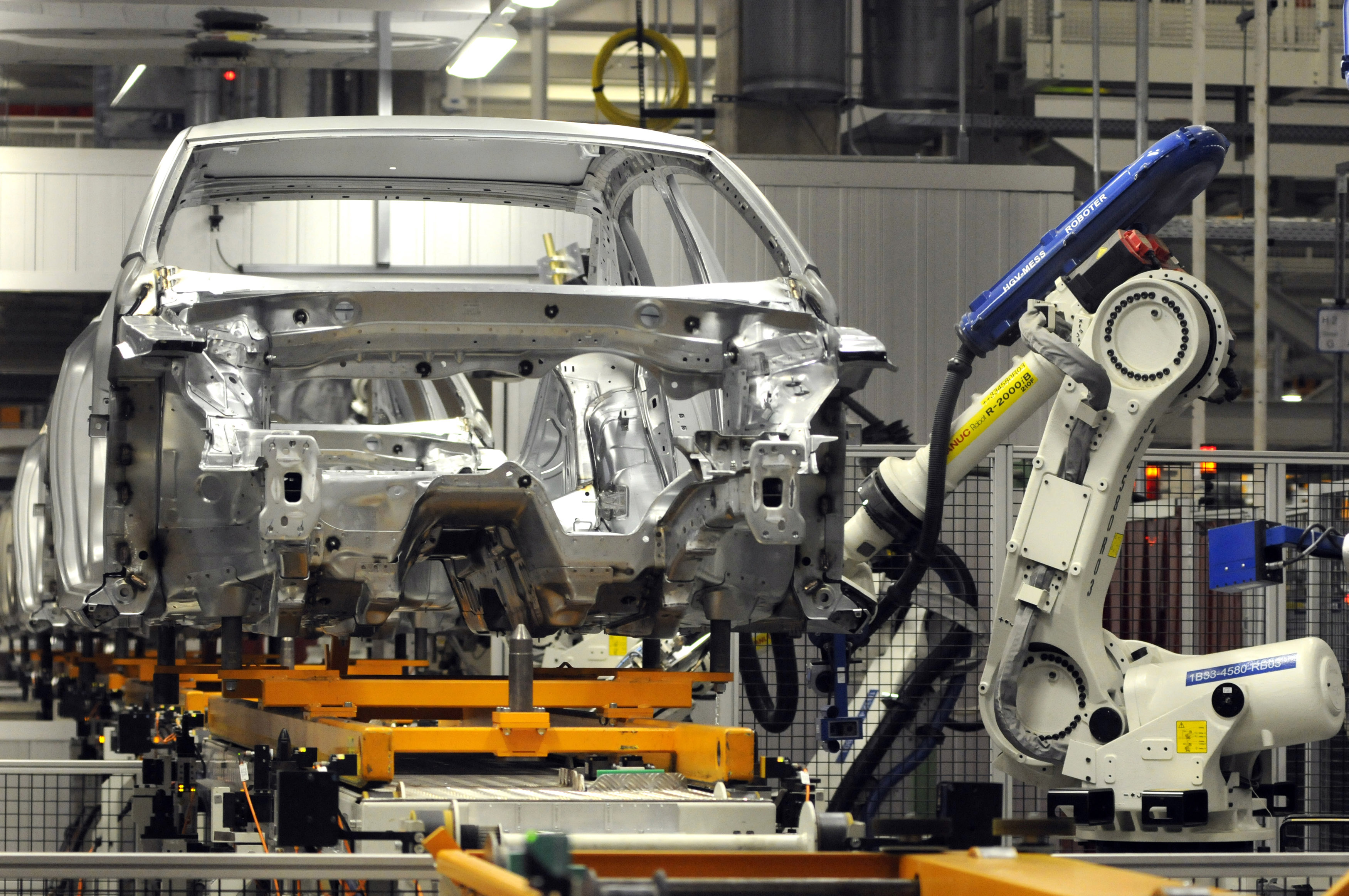 A 2012 Volkswagen Passat Is Worked On By A Automotive Robot At The Chattanooga Tennessee
