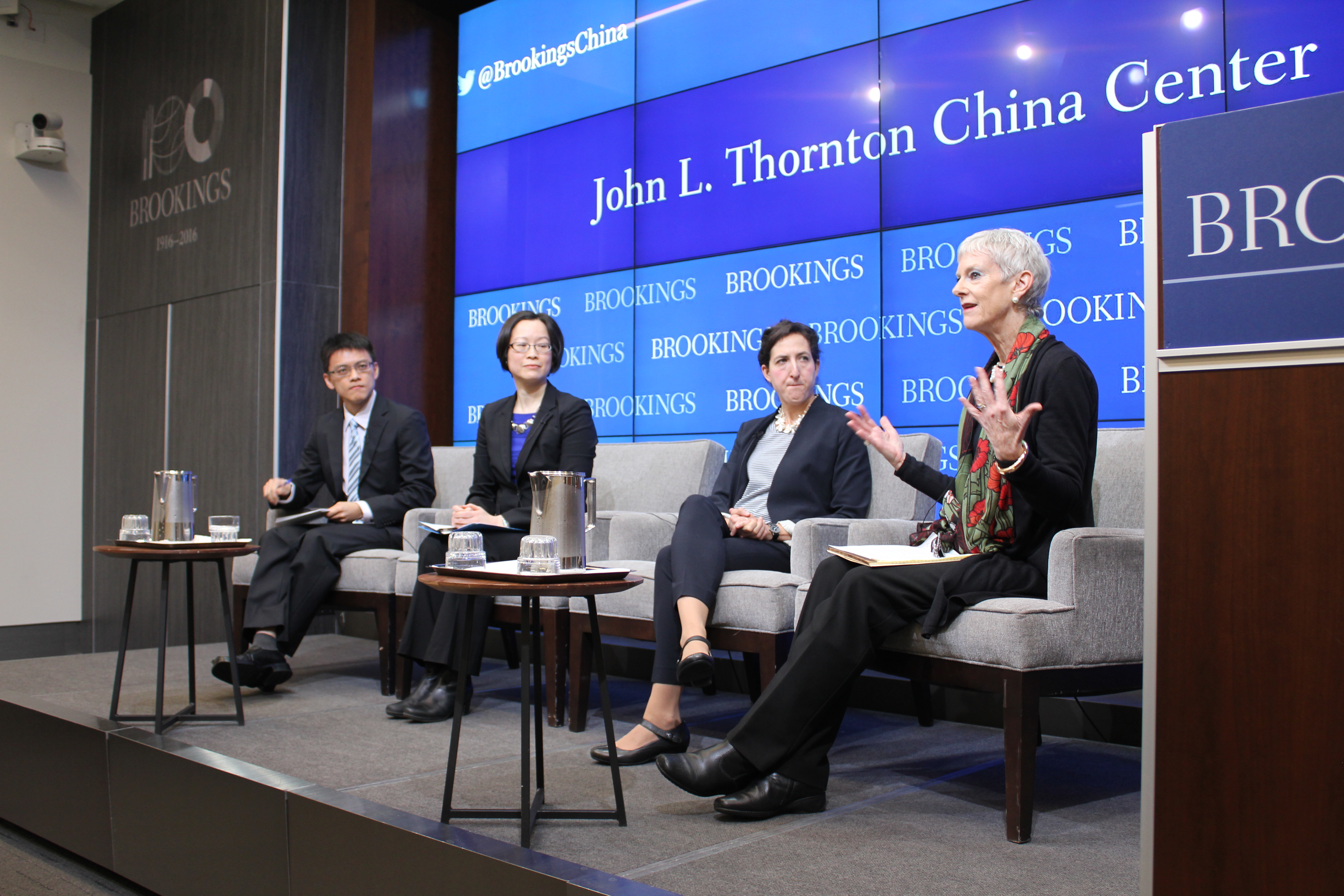 From right to left: Jamie Horsley, Rachel Stern, Carolyn Hsu, and Fang-Yu Chen.