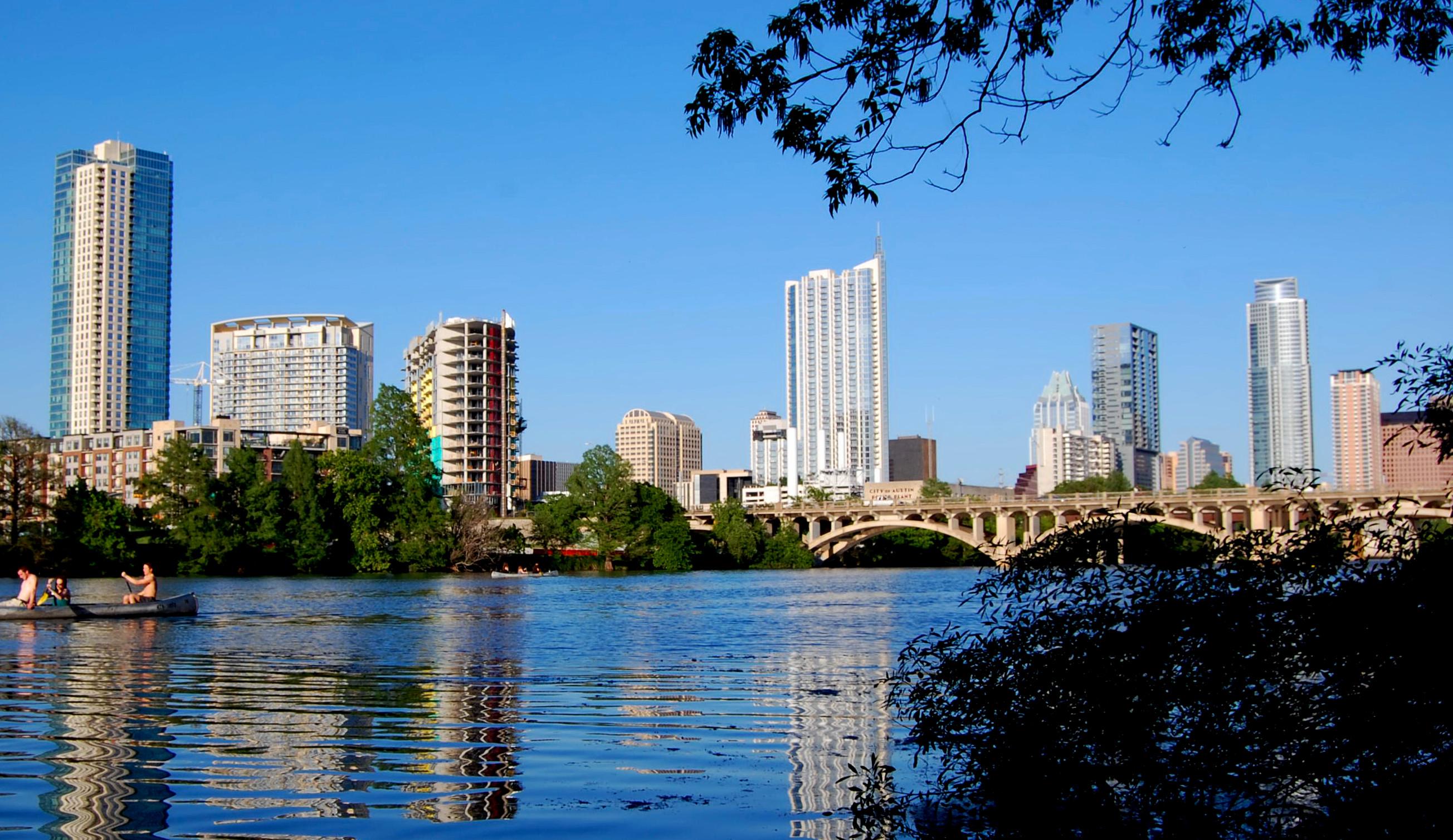 Austin, TX skyline in 2013