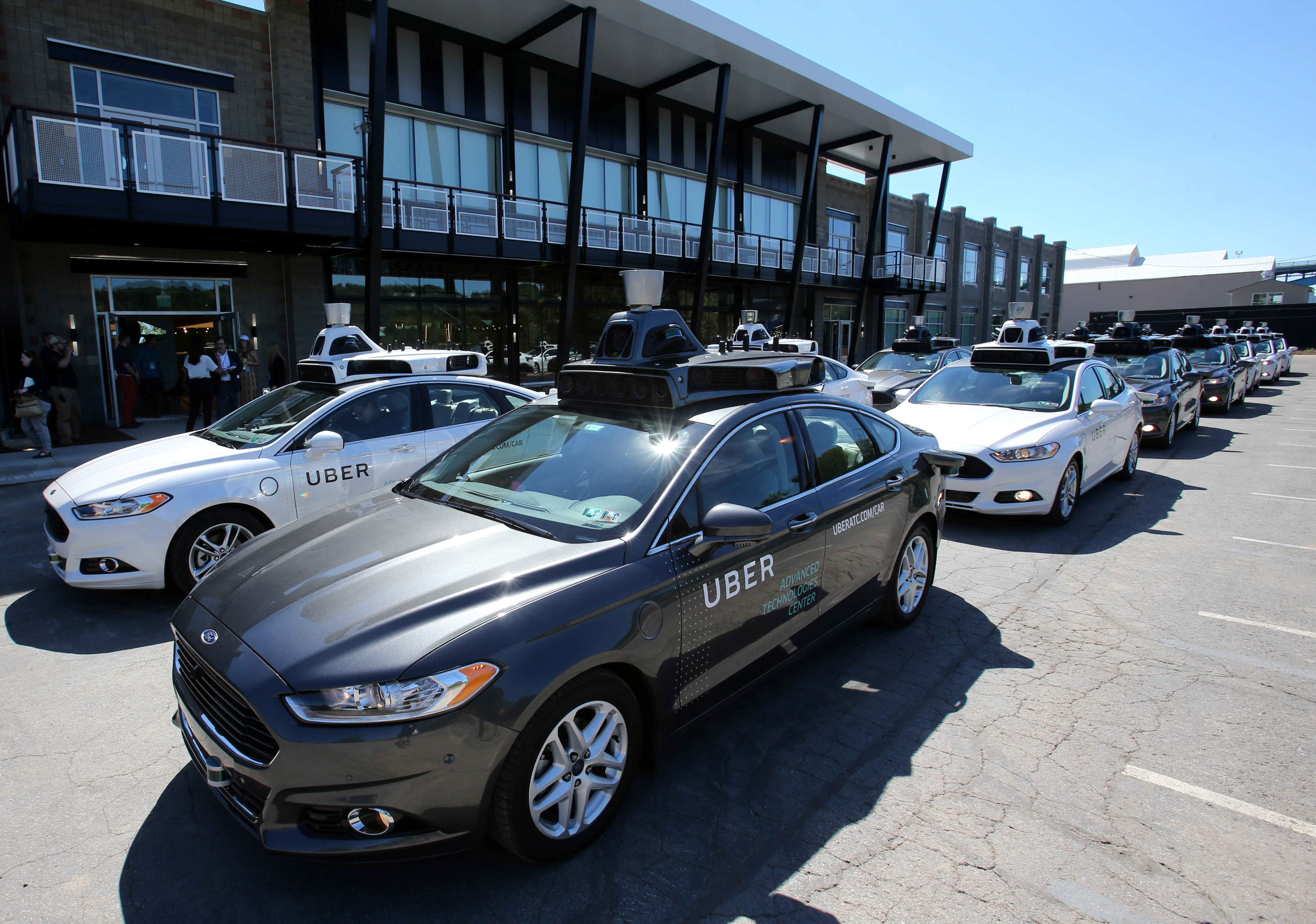 Photo of Uber's Ford Fusion self-driving cars