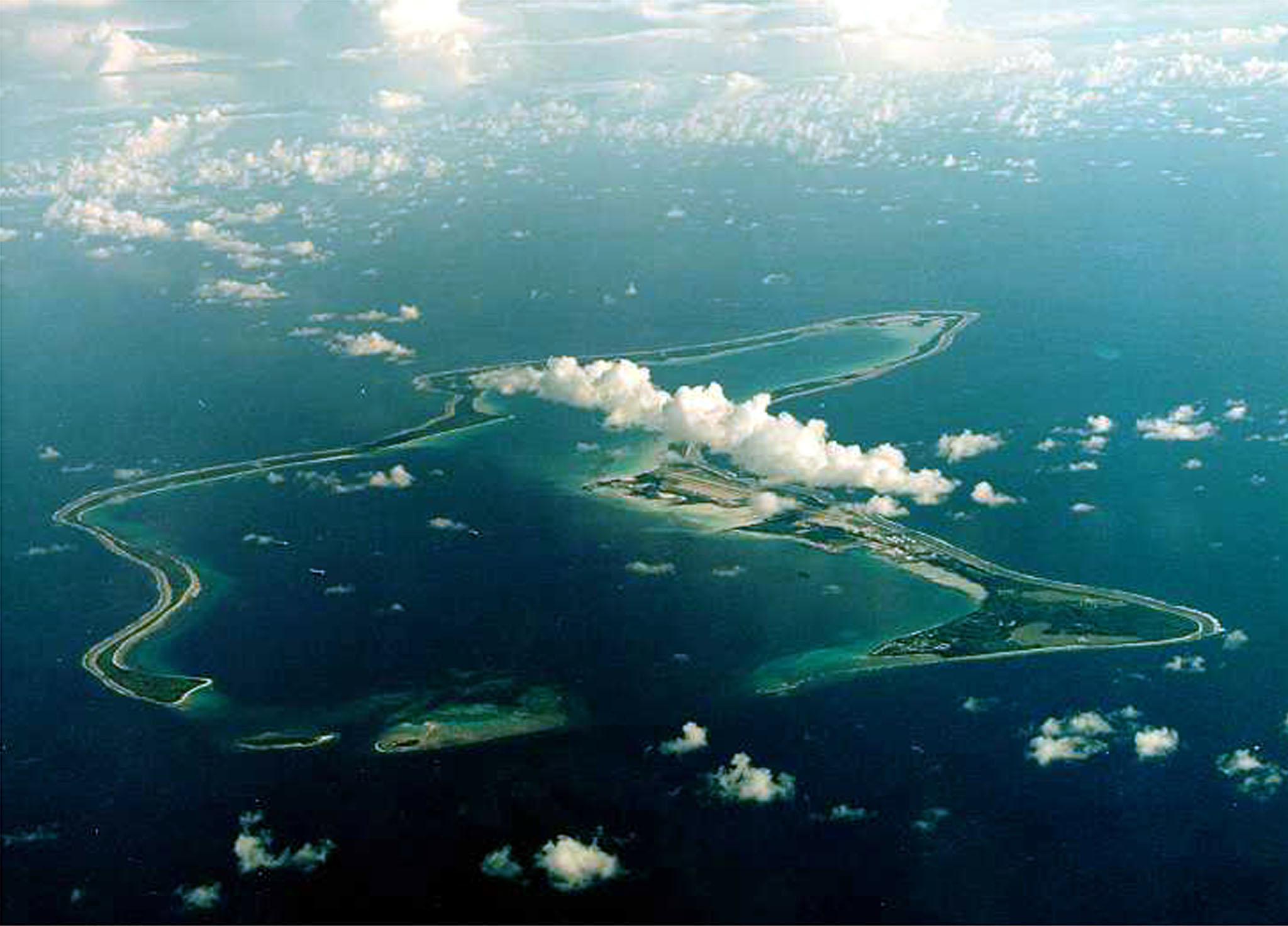 UNDATED FILE PHOTO, Diego Garcia in the Indian Ocean. RTXLL8Z