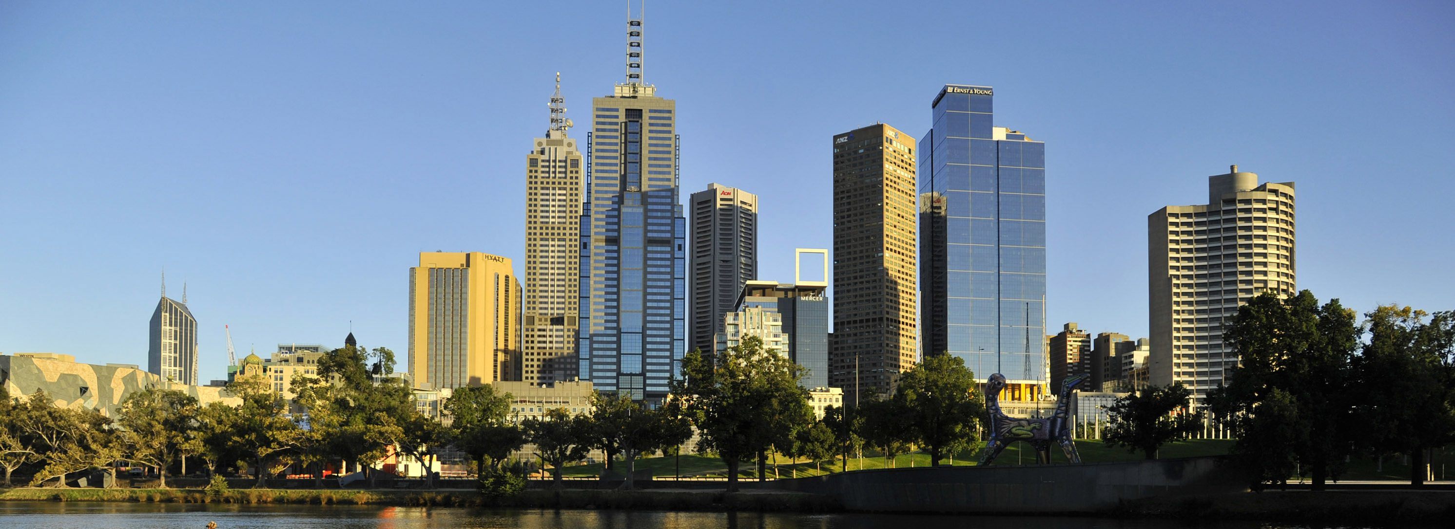 View of Melbourne, Australia from the Yarra River [photo credit: REUTERS/Toby Melville, January 24, 2012]