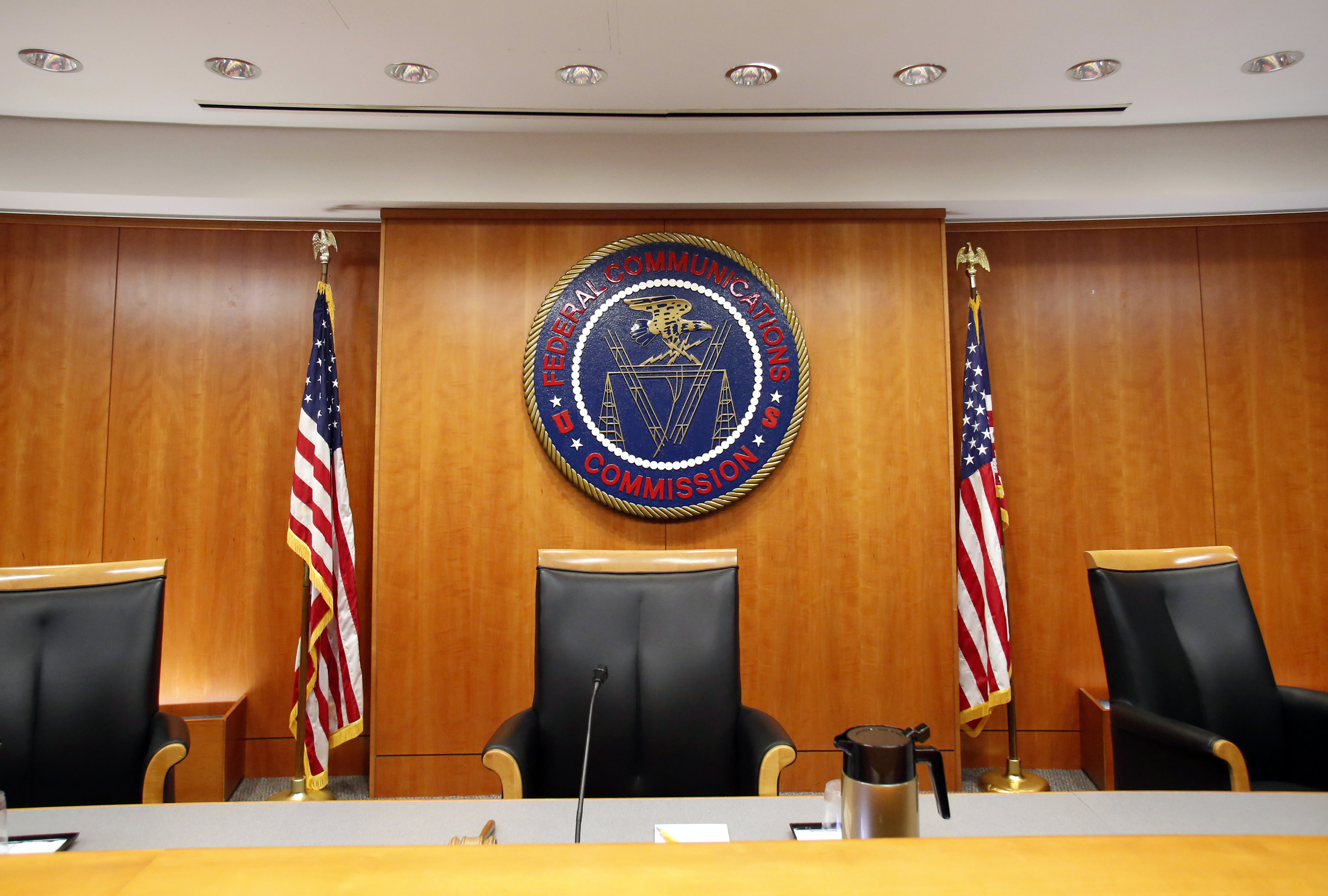 Federal Communications Commission (FCC) hearing room