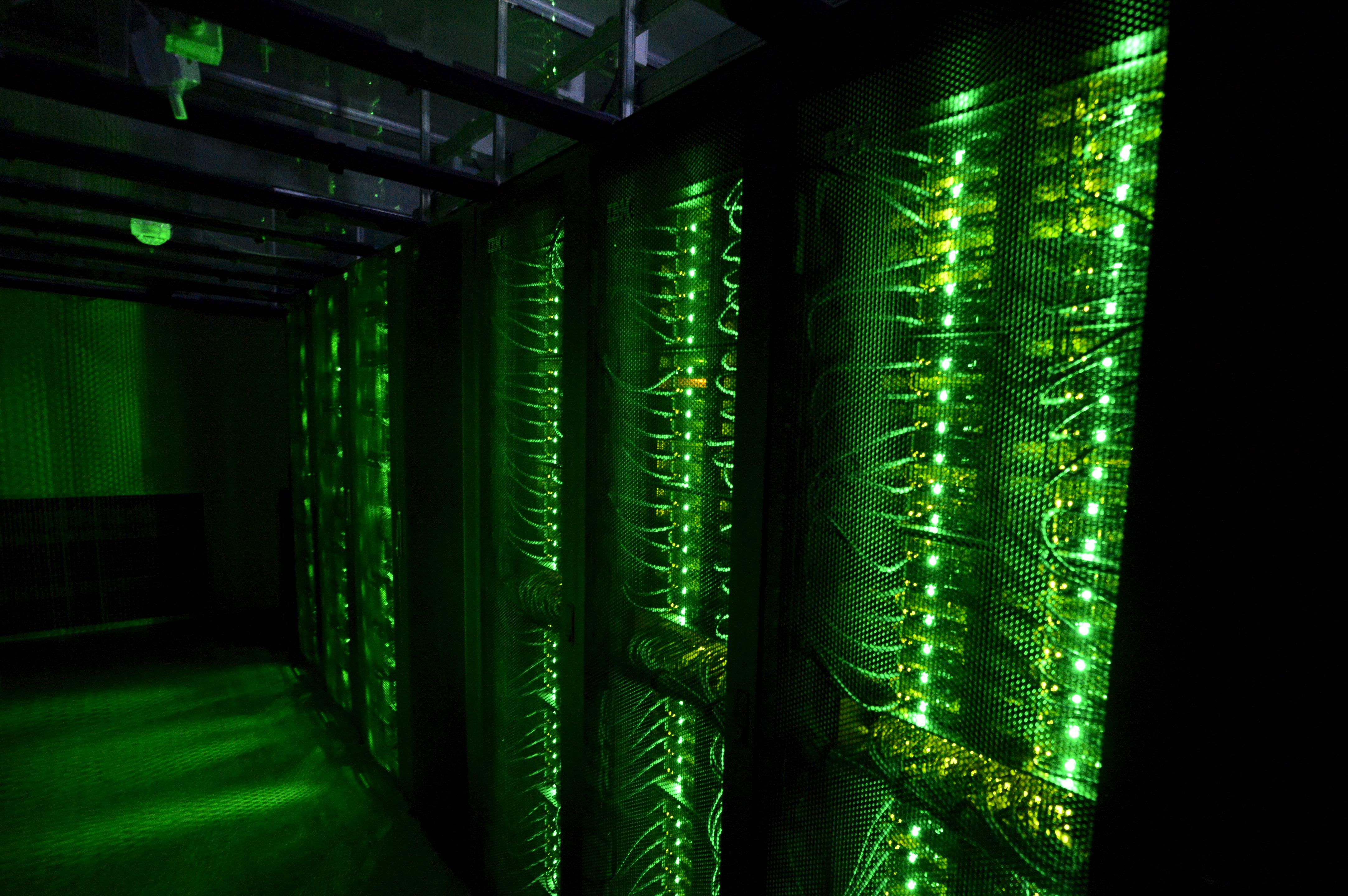 Servers for data storage are seen at Advania's Thor Data Center in Hafnarfjordur, Iceland