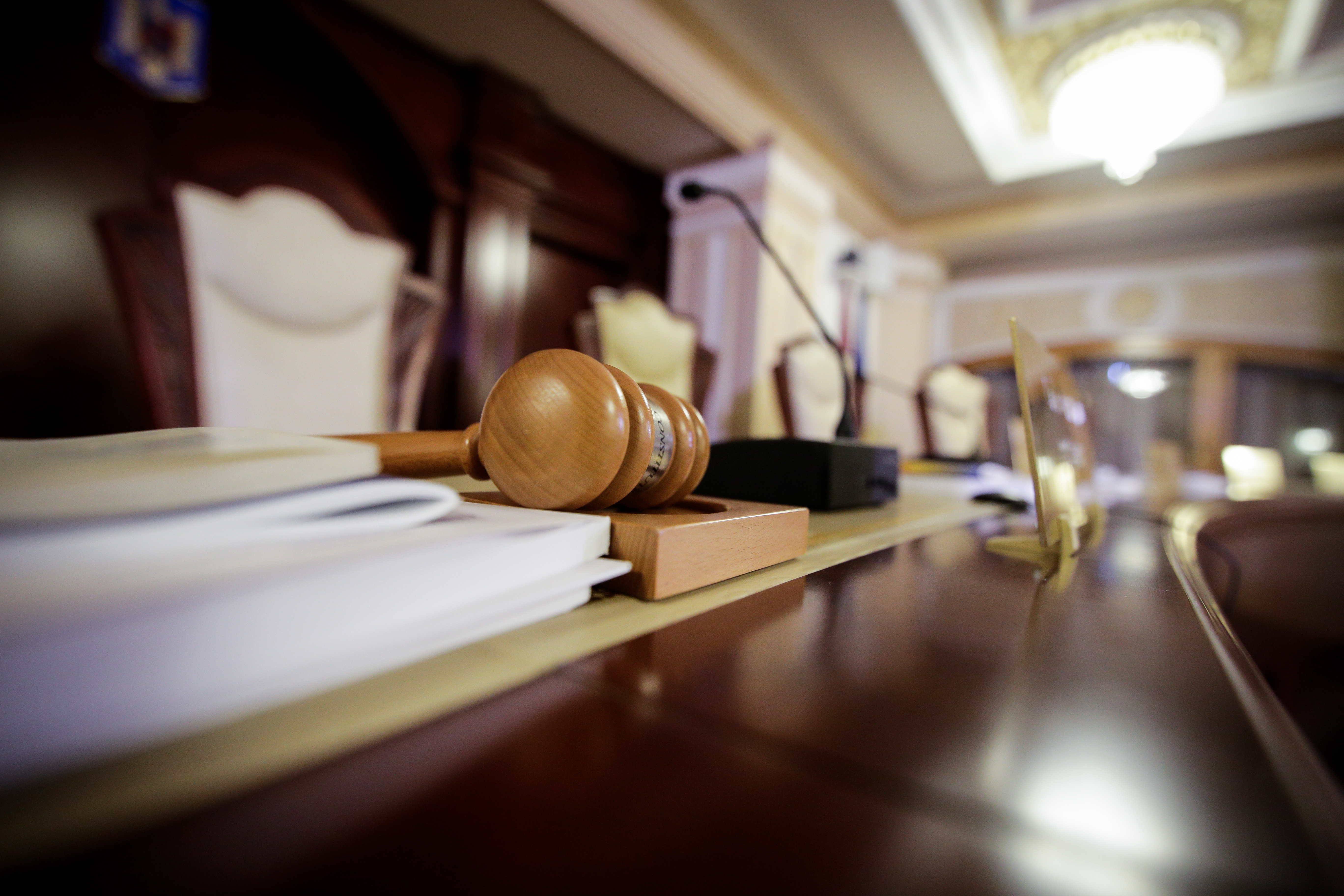 Gavel in a court room