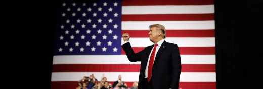 U.S. President Donald Trump acknowledges the crowd during the Make America Great Again Rally at the Florida State Fairgrounds in Tampa, Florida, U.S., July 31, 2018.   REUTERS/Carlos Barria - RC1F9636C950
