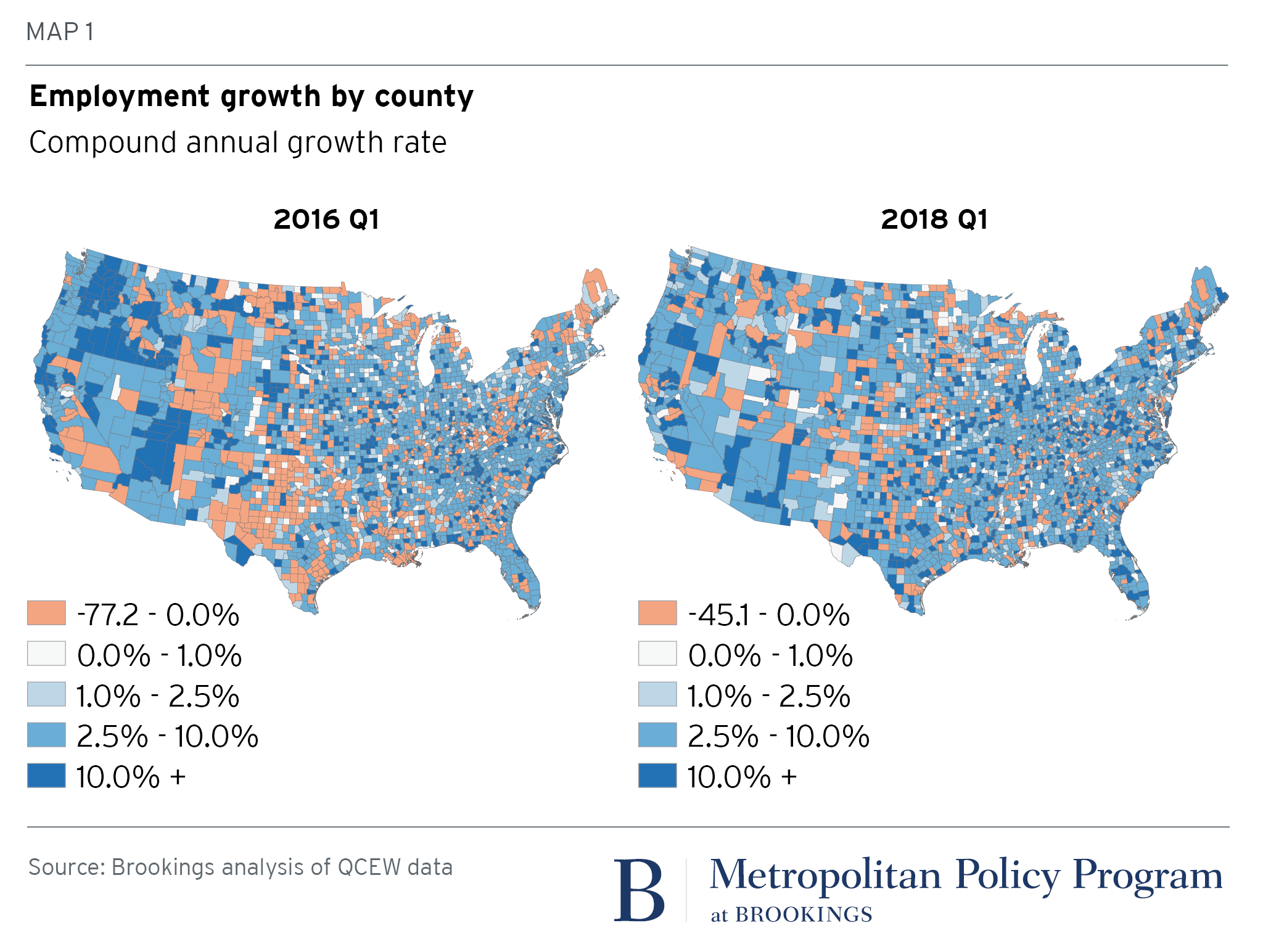 As midterm elections near, smaller, redder places show more economic ...