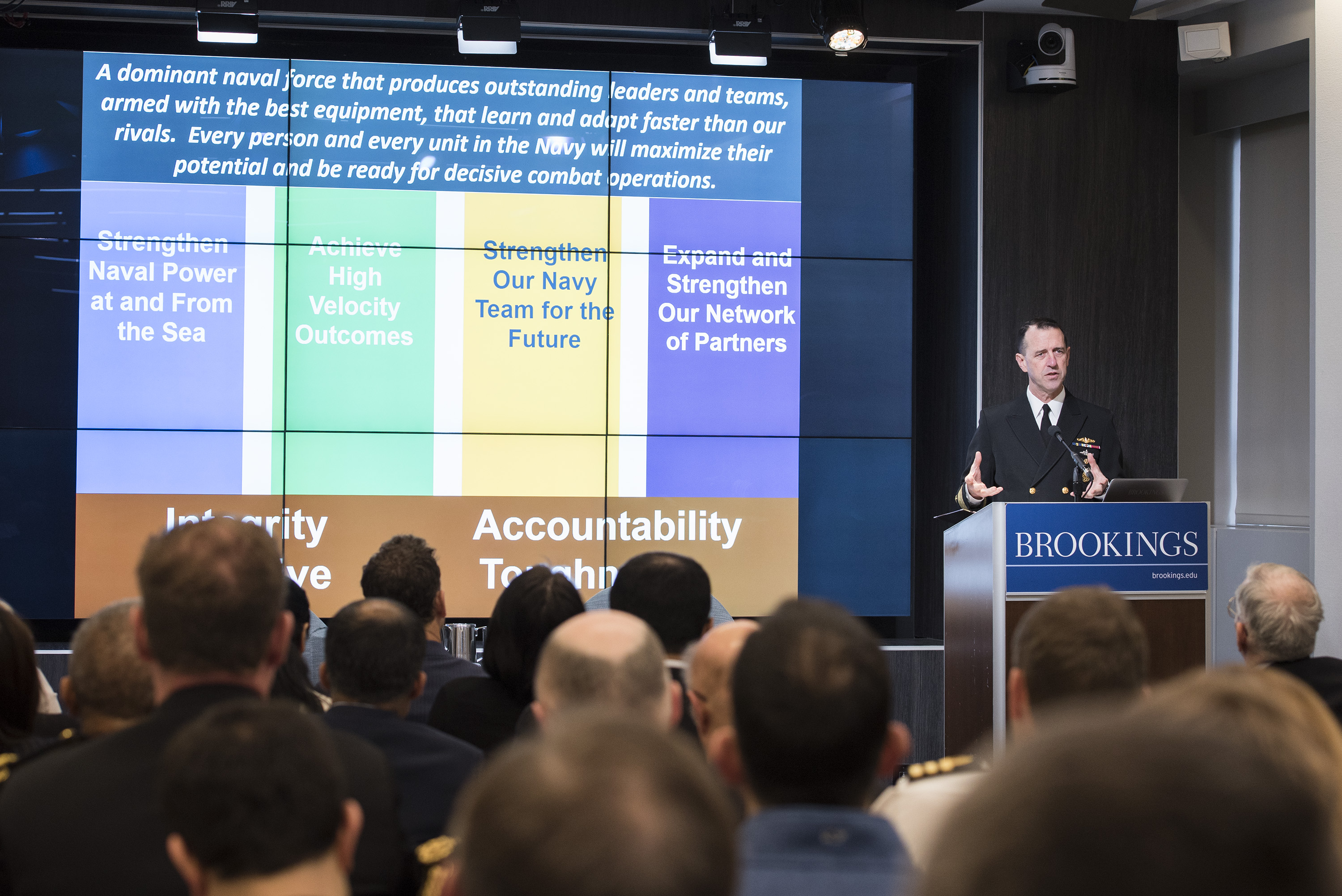 The chief of naval operations talks technology, China, and more