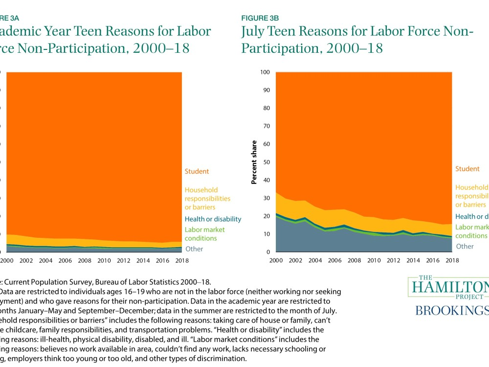 Academic and July Teen Reasons for Non-LFPR, 2000-2018