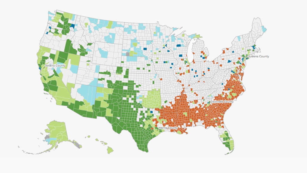 Racial Map Of The Us Six maps that reveal America's expanding racial diversity