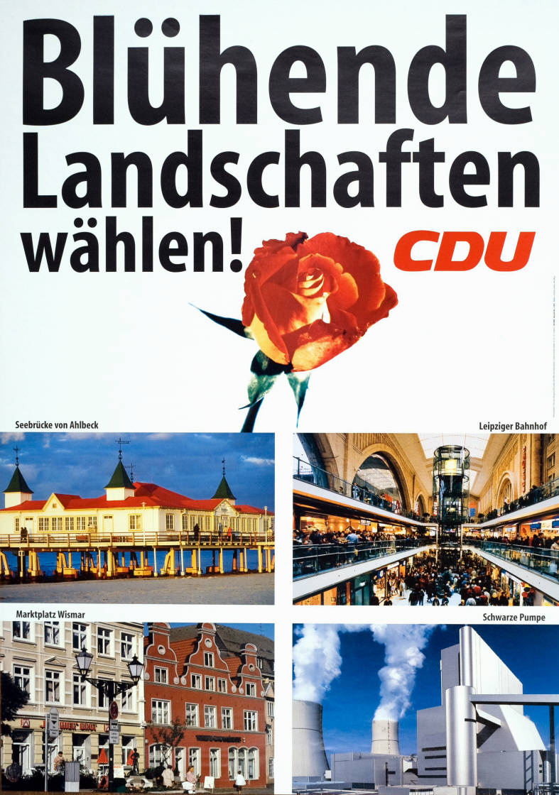 1998 re-election poster of Chancellor Helmut Kohl's Christian Democratic Union. (Konrad-Adenauer-Stiftung)