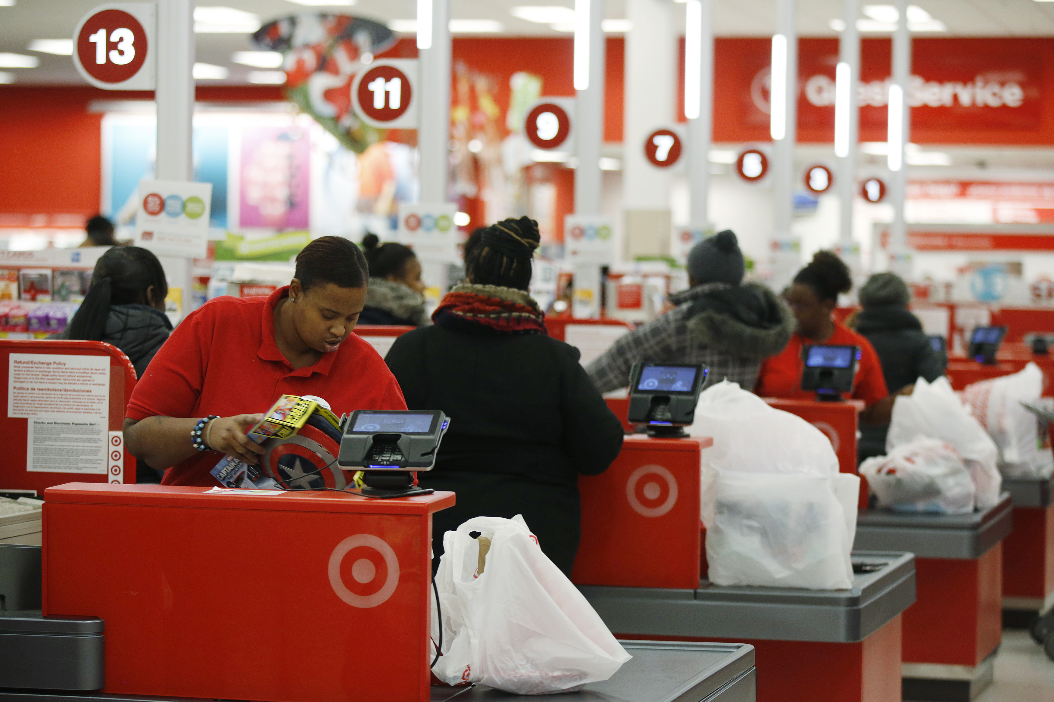 CUE Target cashier001.'