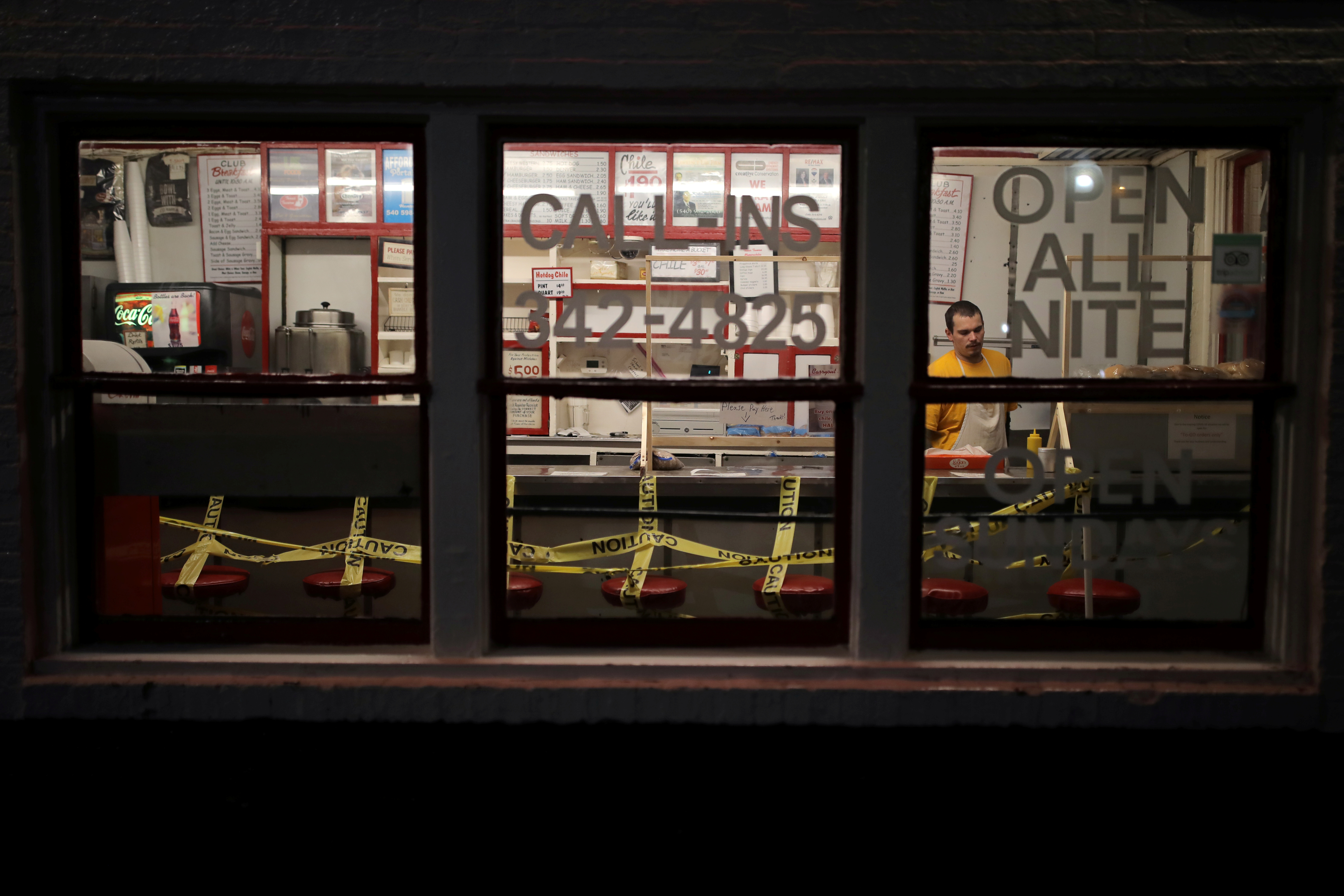 global us restaurant caution tape.'