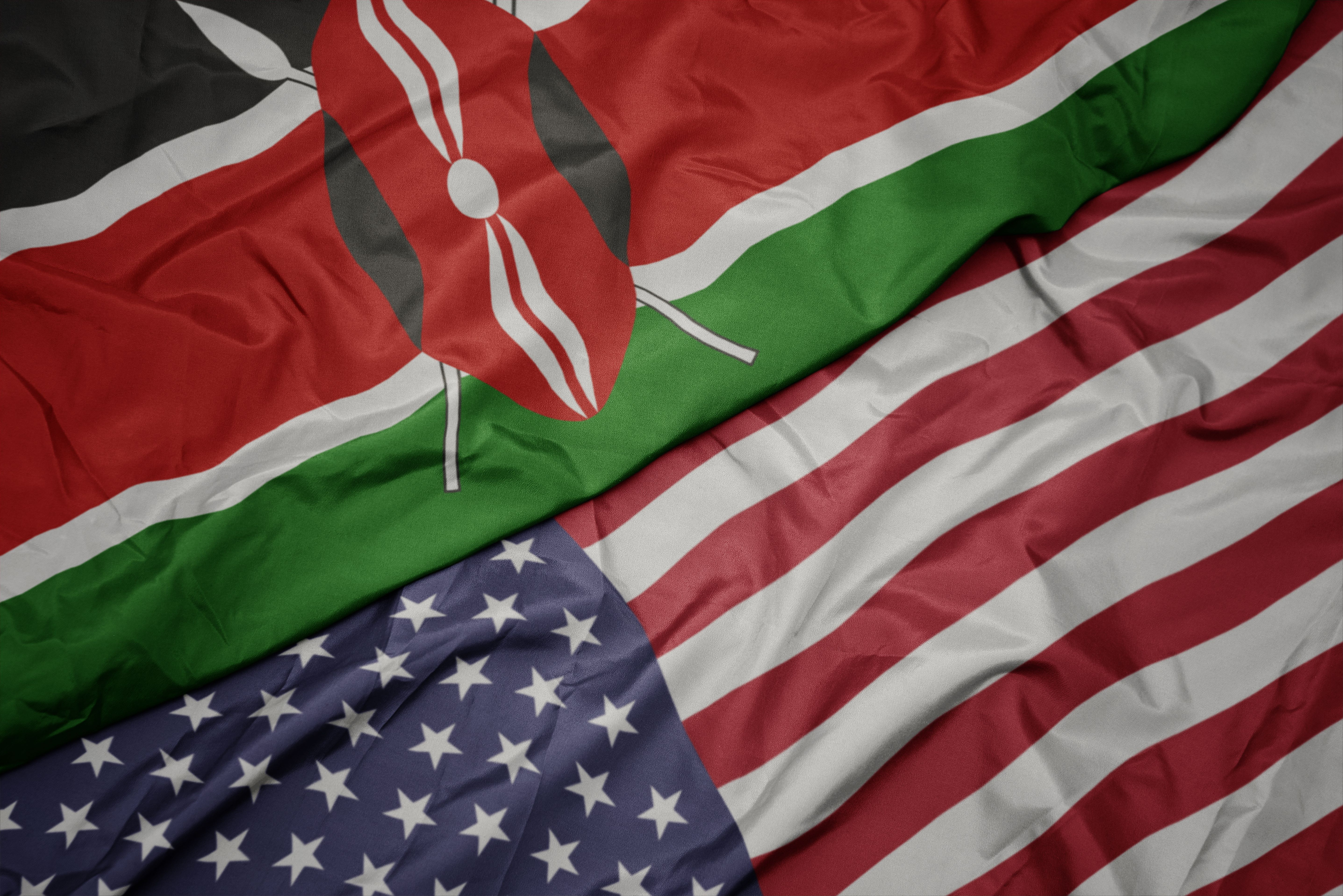 Flags of Kenya and the United States