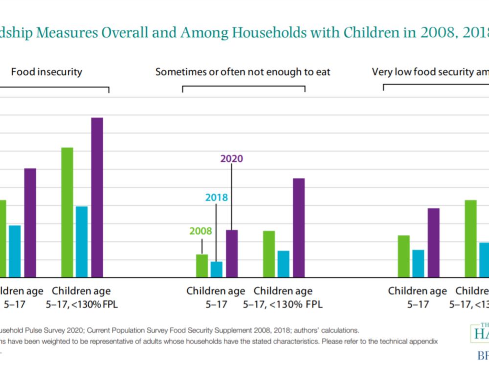 Food hardship measures, 2008, 2018, 2020
