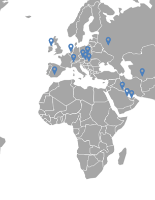 map of North Anglia Education network