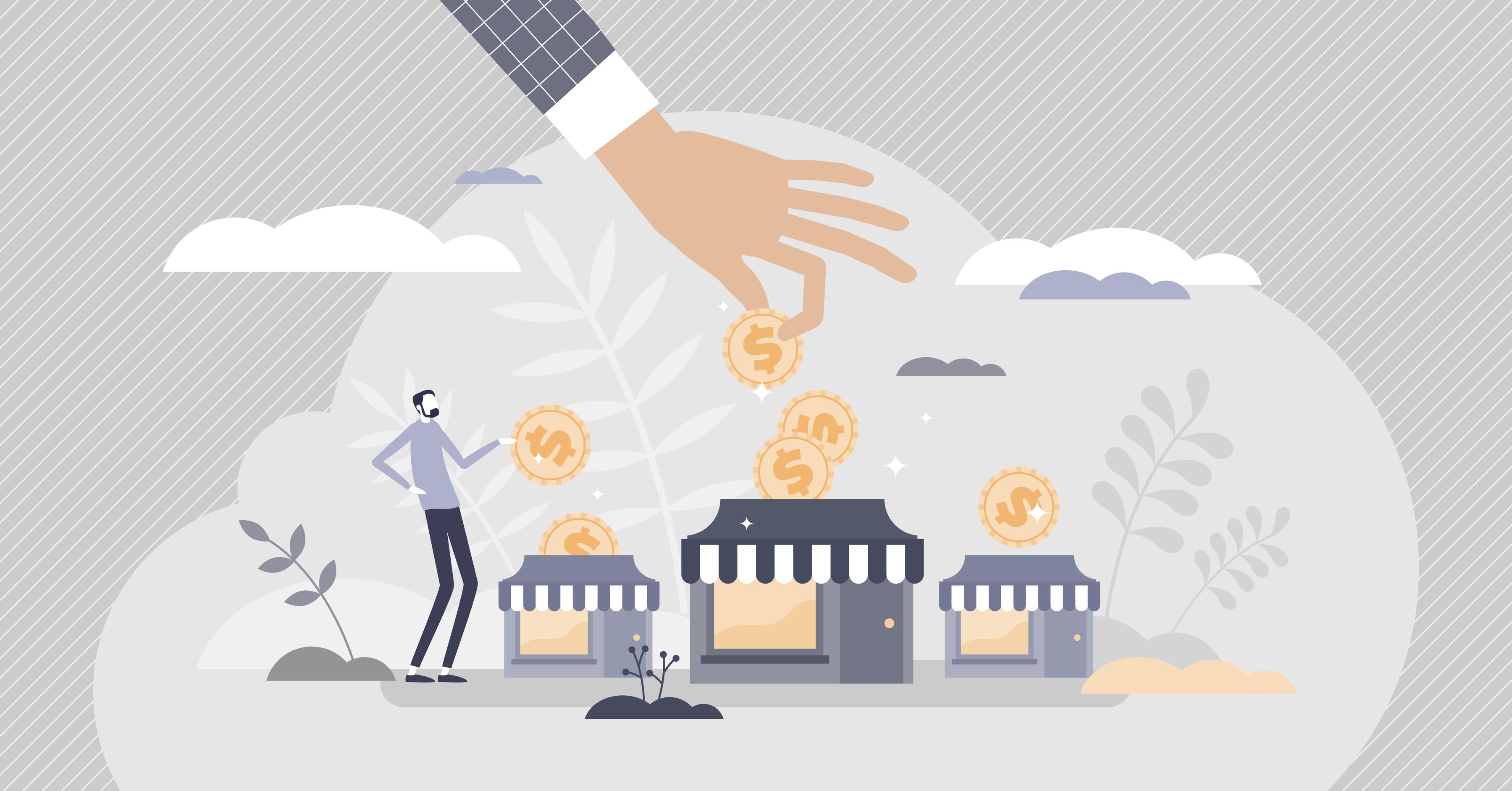 Illustration conveying budgeting