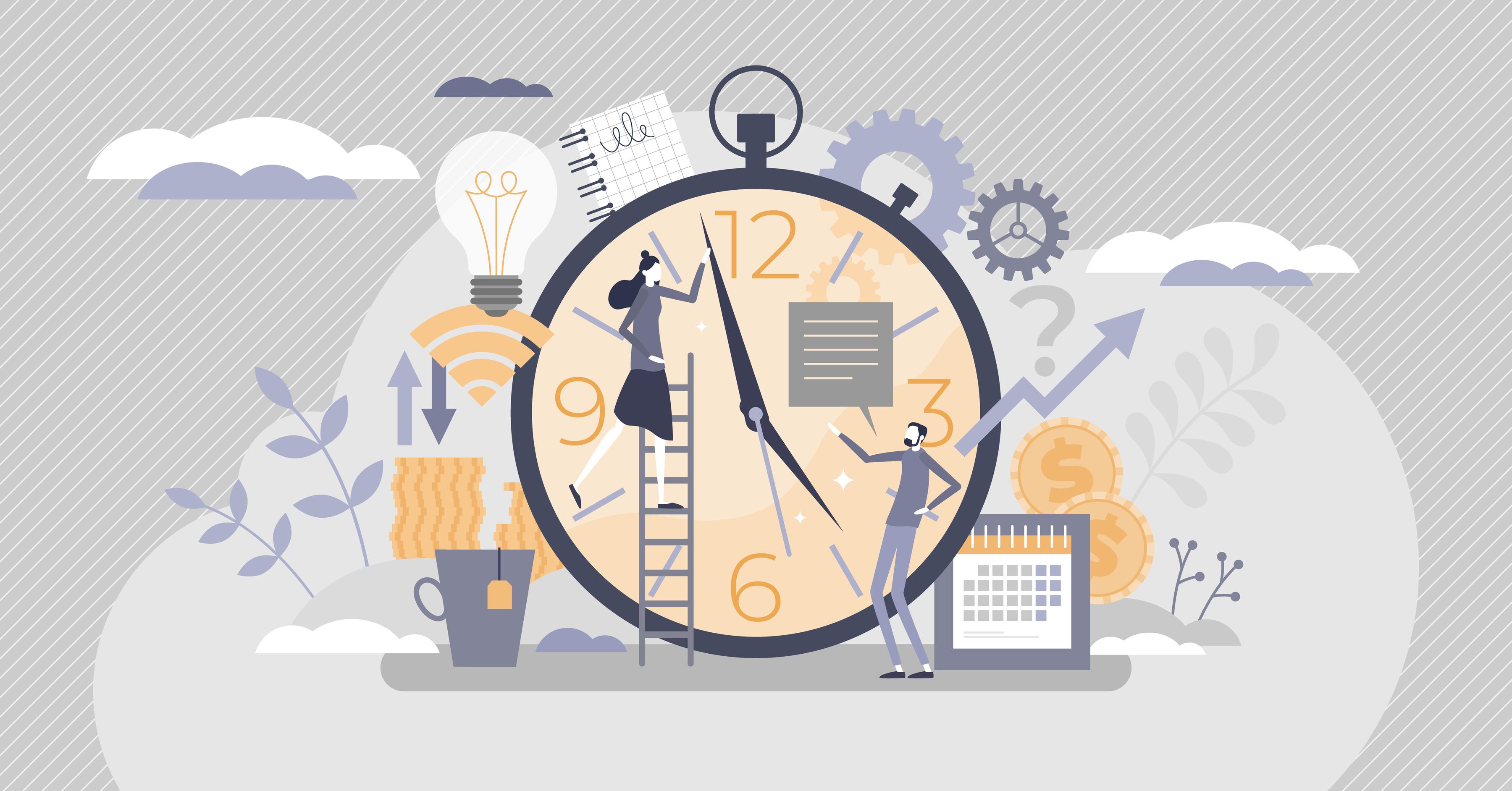 Illustration conveying deadlines