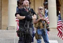 A eleição dos Estados Unidos e milícias de direita 2