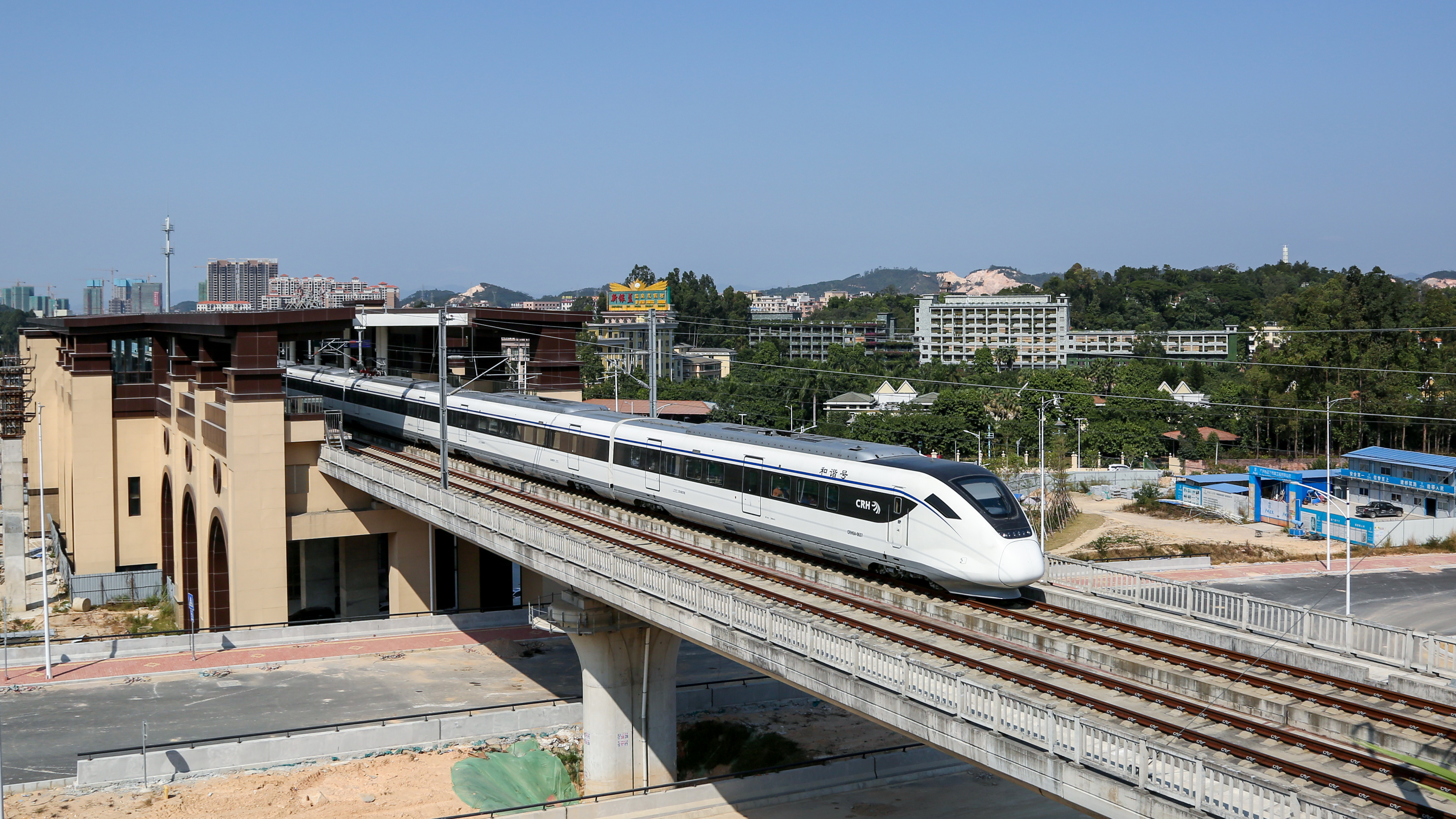 The first intercity railway line operates by a domestic local rail transit company, Guangqing Guangzhou East Ring Intercity Railway opens to traffic in Guangzhou city, south China's Guangdong province, 30 November 2020. No Use China. No Use France.