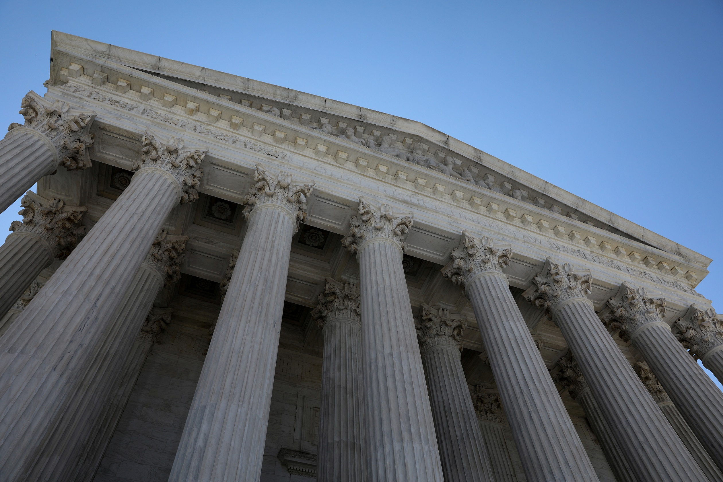FILE PHOTO: A general view of the U.S. Supreme Court building in Washington, U.S. July 2, 2020. REUTERS/Jonathan Ernst/File Photo