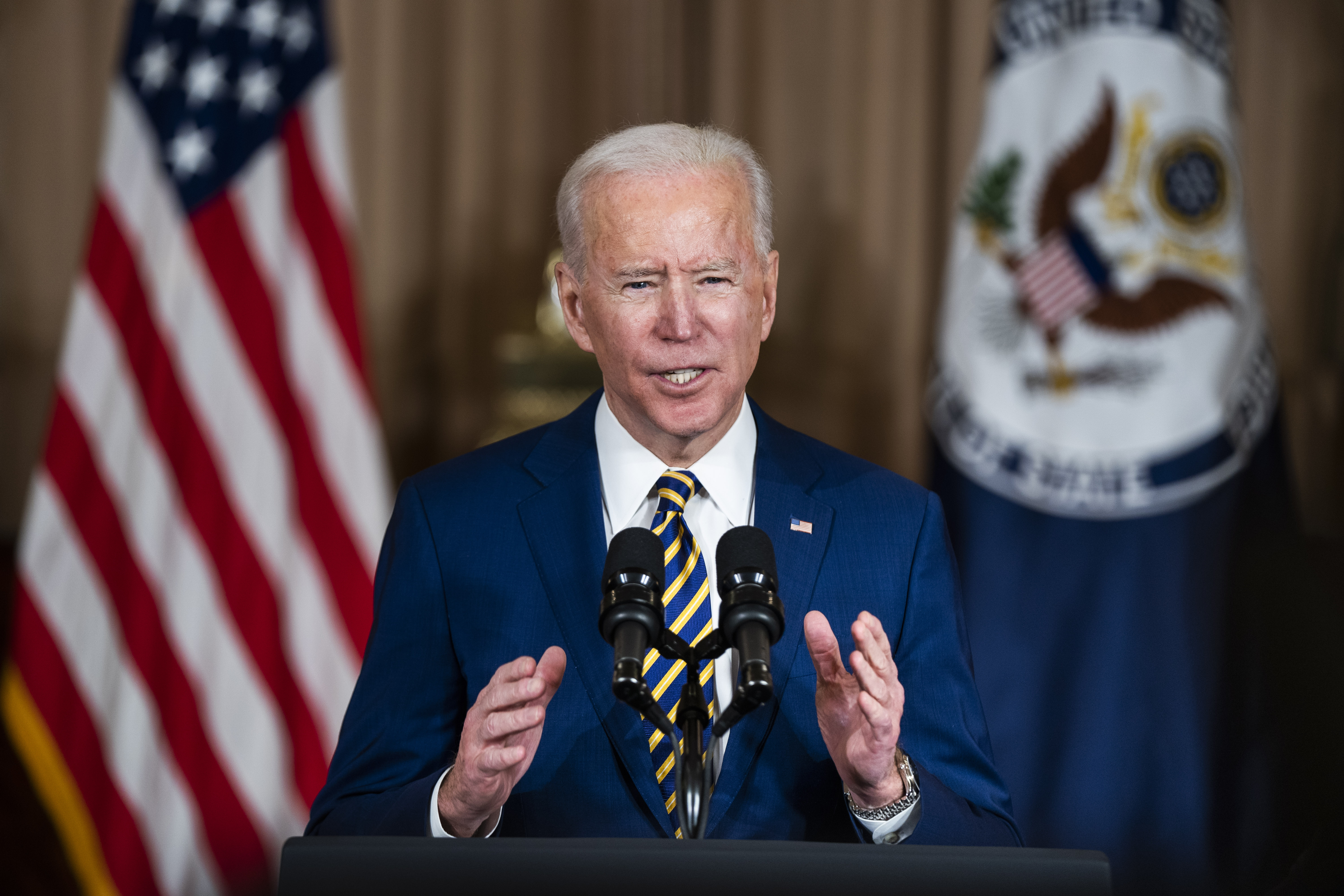 Around the halls: Brookings experts analyze President Biden's first foreign policy speech