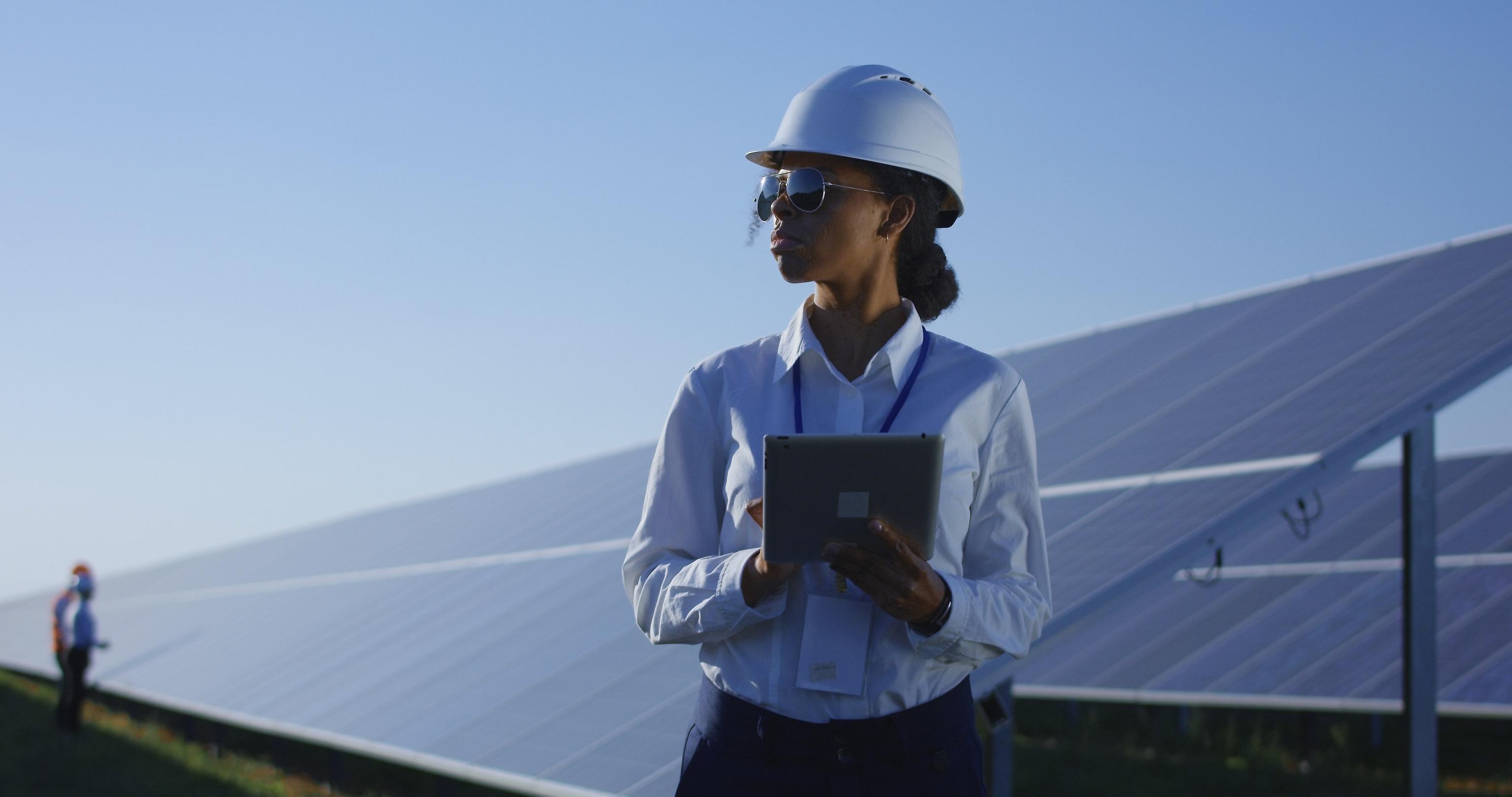 Clean energy worker