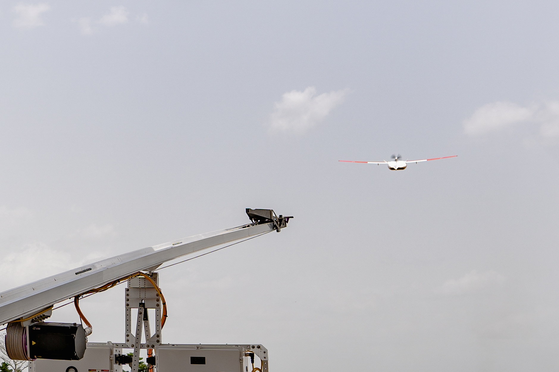 Zipline drone takes off in Ghana, April 22, 2019. Picture taken April 22, 2019. Zipline drones, supported by Gavi and the UPS Foundation, cut the time taken to deliver lifesaving medical supplies from hours to minutes. Gavi/2019/Tony Noel via REUTERS   ATTENTION EDITORS - THIS IMAGE HAS BEEN SUPPLIED BY A THIRD PARTY. MANDATORY CREDIT