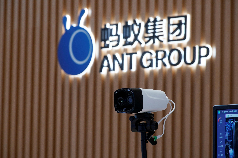 Logo do Ant Group fotografado em Hangzhou, China 29/10/2020REUTERS/Aly Song