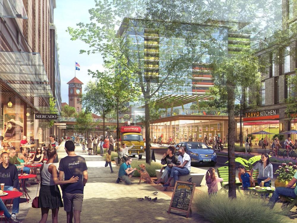 Rendering of the Broadway Corridor Development; Credit: ZGF Architects